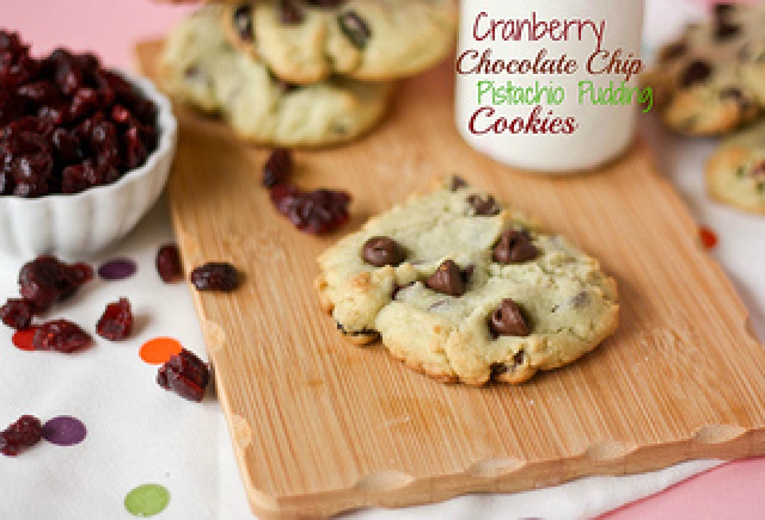 Cranberry Chocolate Chip Pistachio Pudding Cookies Recipe ...