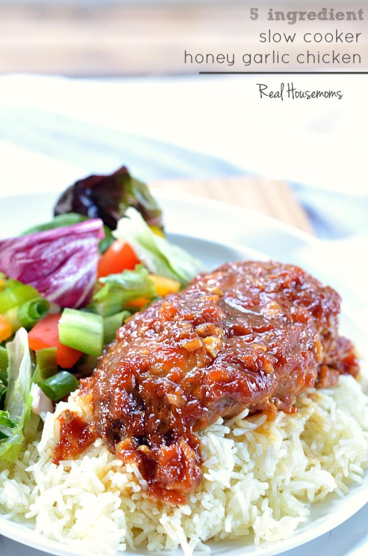 Slow Cooker Honey Garlic Chicken Recipe 9 | Just A Pinch ...