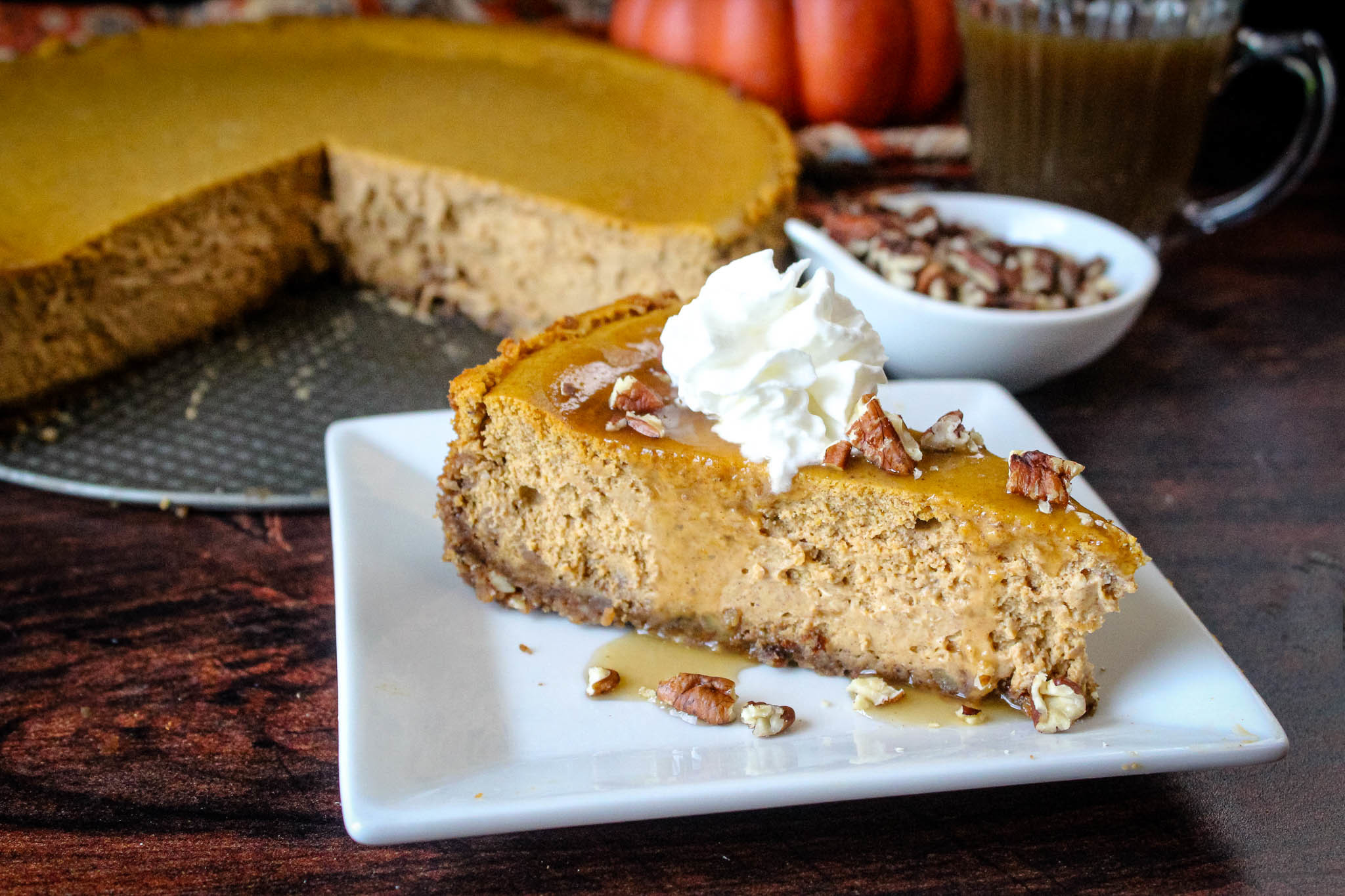 Pumpkin Cheesecake with Gingersnappy crust Recipe