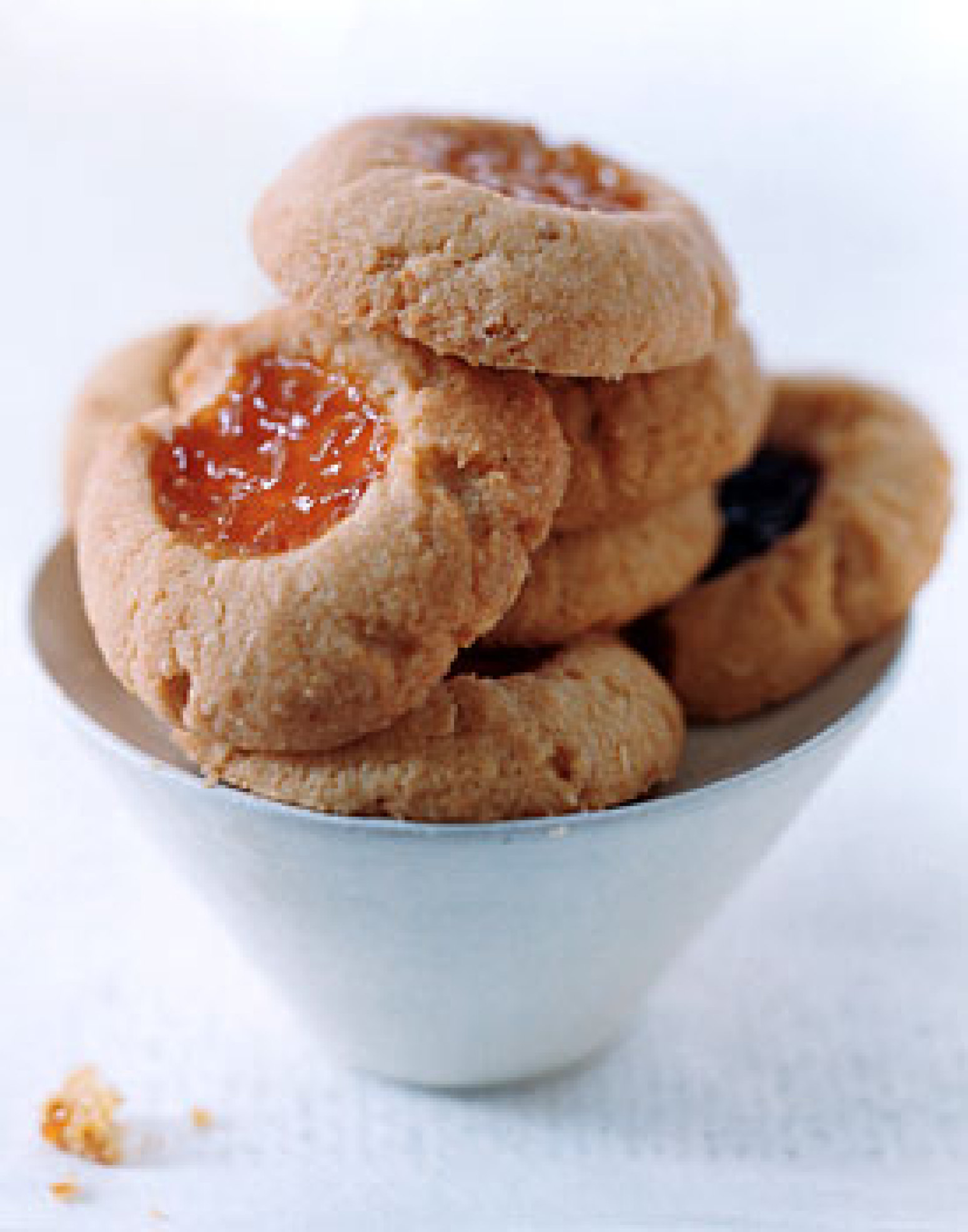 Almond Thumbprint Cookies Recipe Epicuriouscom | Just A Pinch Recipes