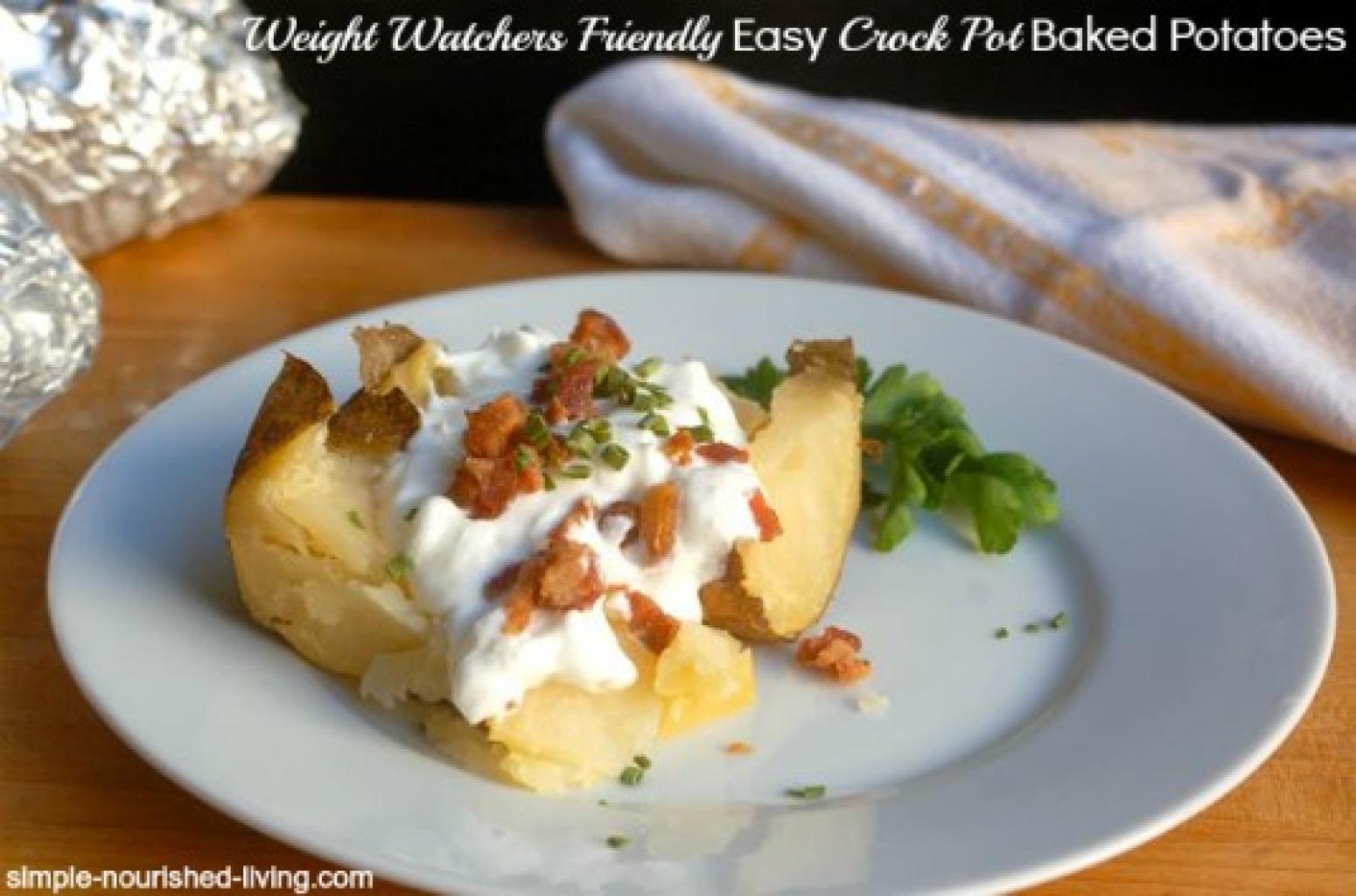 Easy Crock Pot Baked Potatoes Recipe | Just A Pinch Recipes