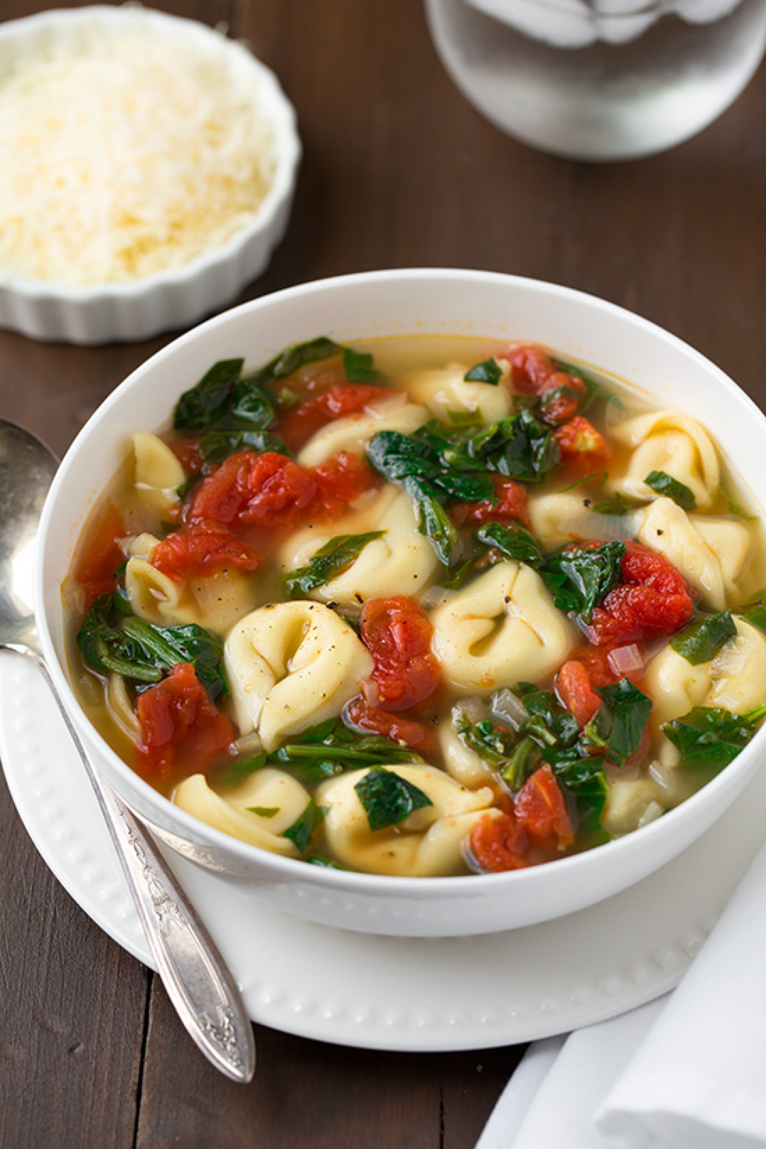 ... Tomato and Garlic Tortellini Soup Recipe | Just A Pinch Recipes
