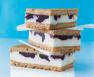Lemon Ice Cream Sandwiches with Blueberry Swirl Recipe | Epicurious.com