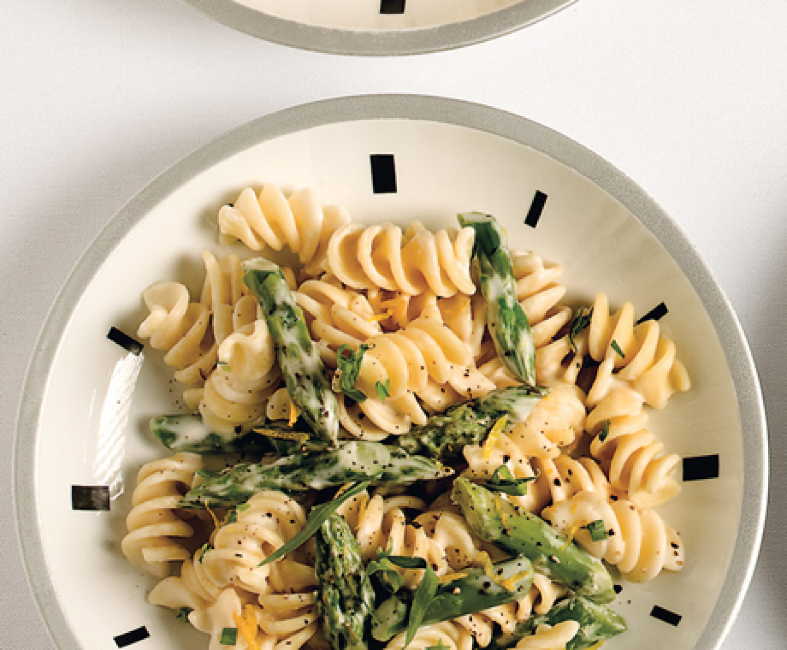 Pasta with Goat Cheese, Lemon, and Asparagus Recipe | Epicurious.com ...
