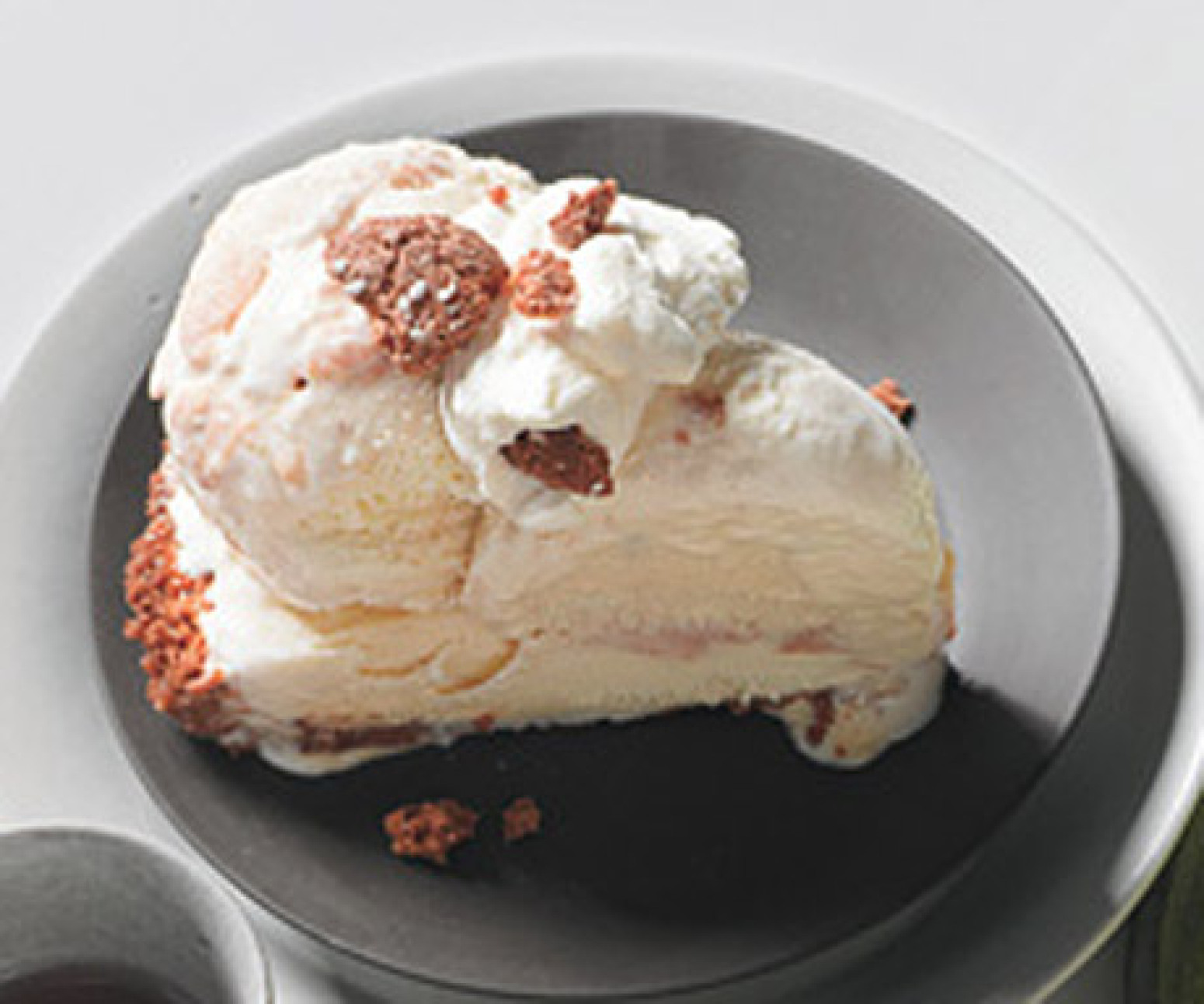 Peach Ice Cream Pie with Amaretti Cookie Crust Recipe | Epicurious.com ...