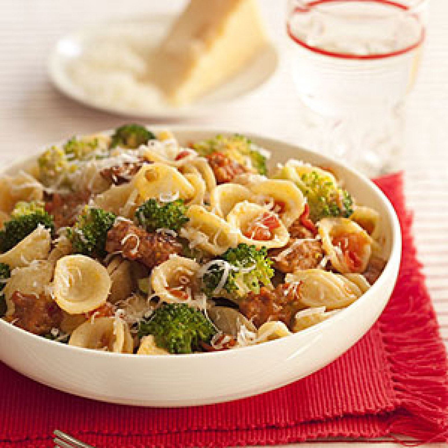Orecchiette with Broccoli, Tomatoes and Sausage Recipe | Just A Pinch ...