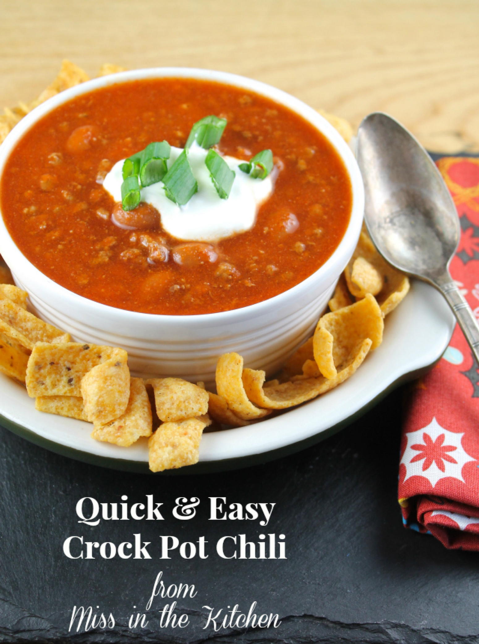 Quick & Easy Crock Pot Chili Recipe | Just A Pinch Recipes