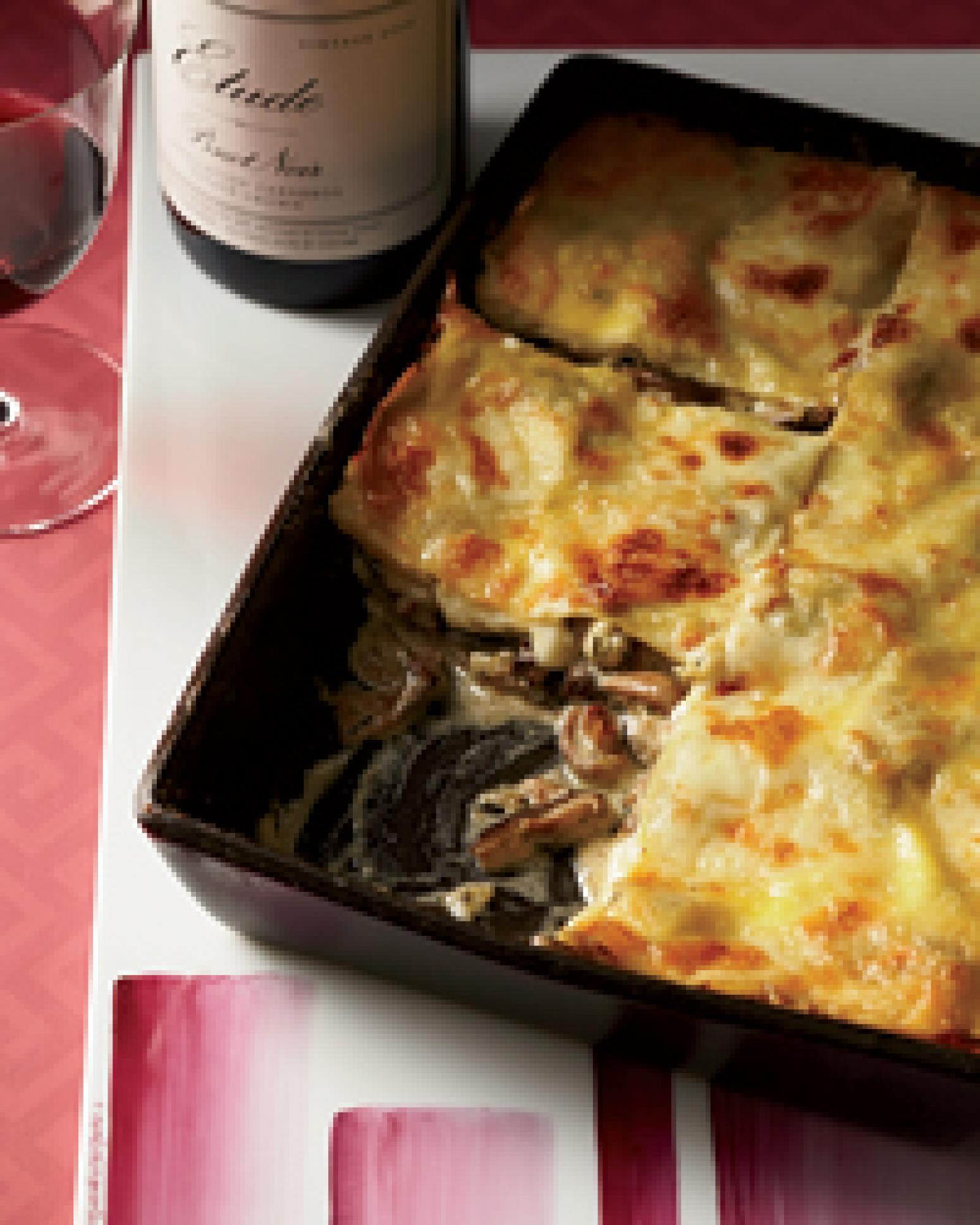 Wild Mushroom Lasagna Recipe | Just A Pinch Recipes