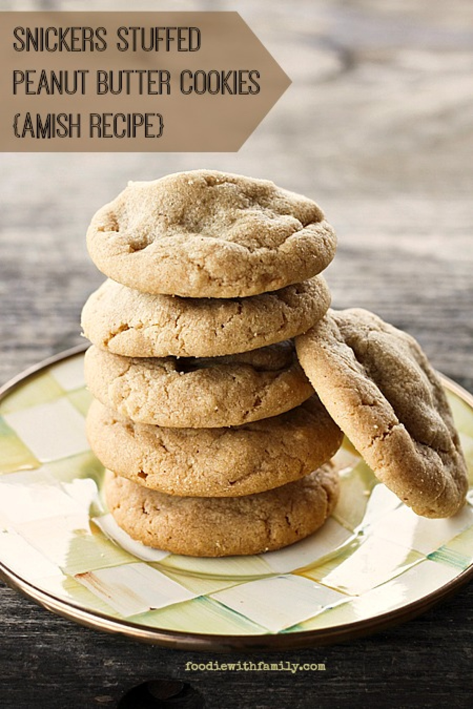 Snickers Stuffed Peanut Butter Cookies Amish Recipe | Just A Pinch ...