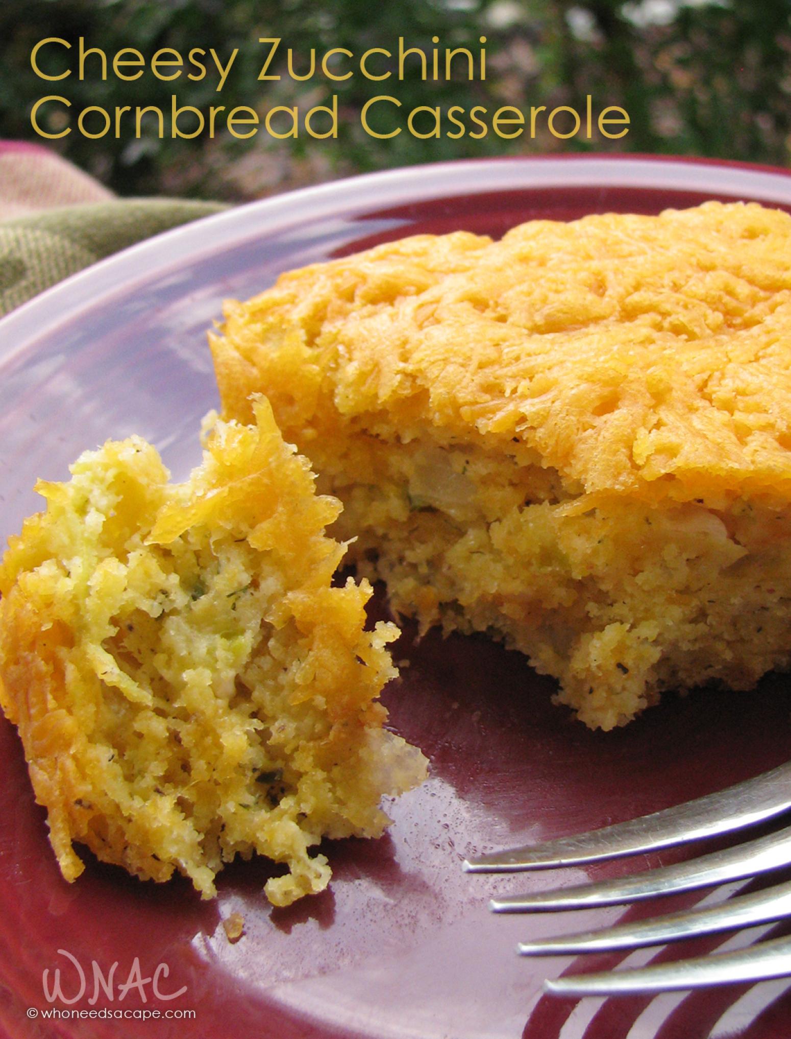 Cheesy Zucchini Cornbread Casserole Recipe | Just A Pinch Recipes