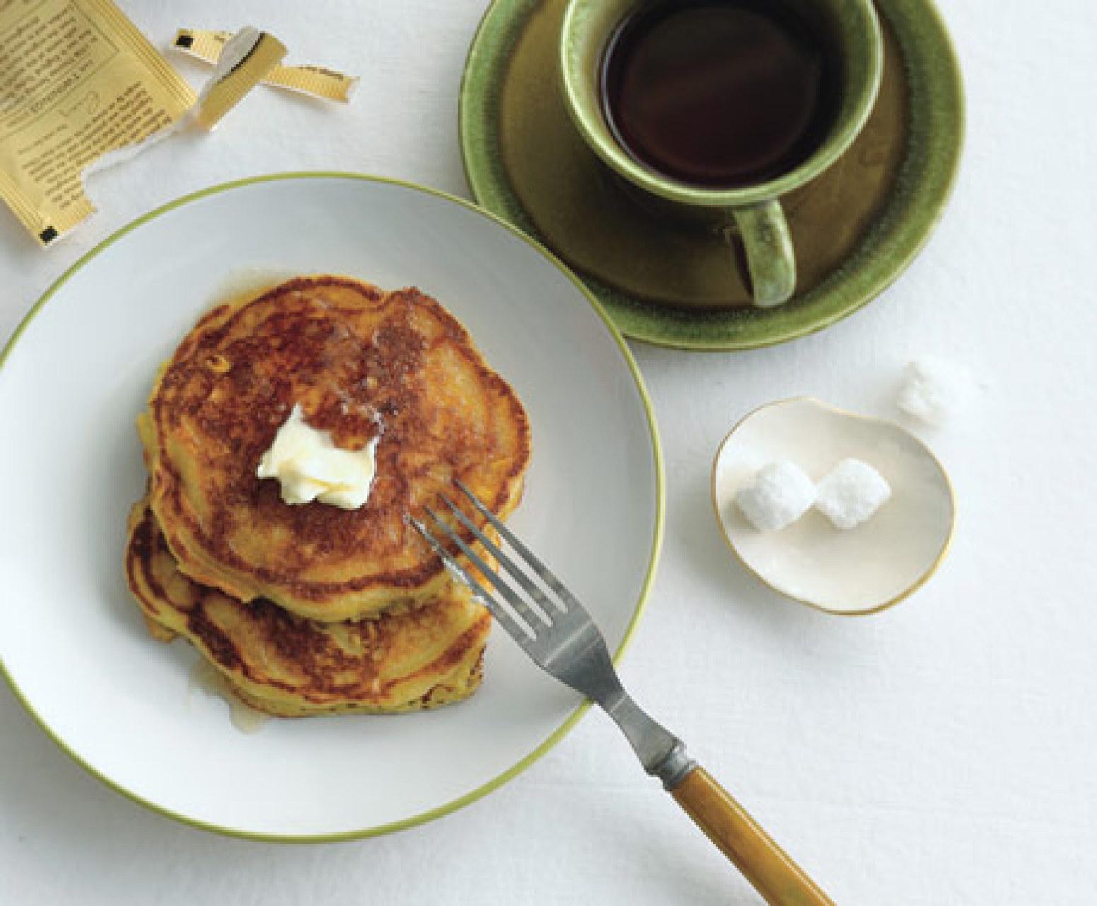 Fresh Corn Pancakes Recipe | Epicurious.com | Just A Pinch Recipes