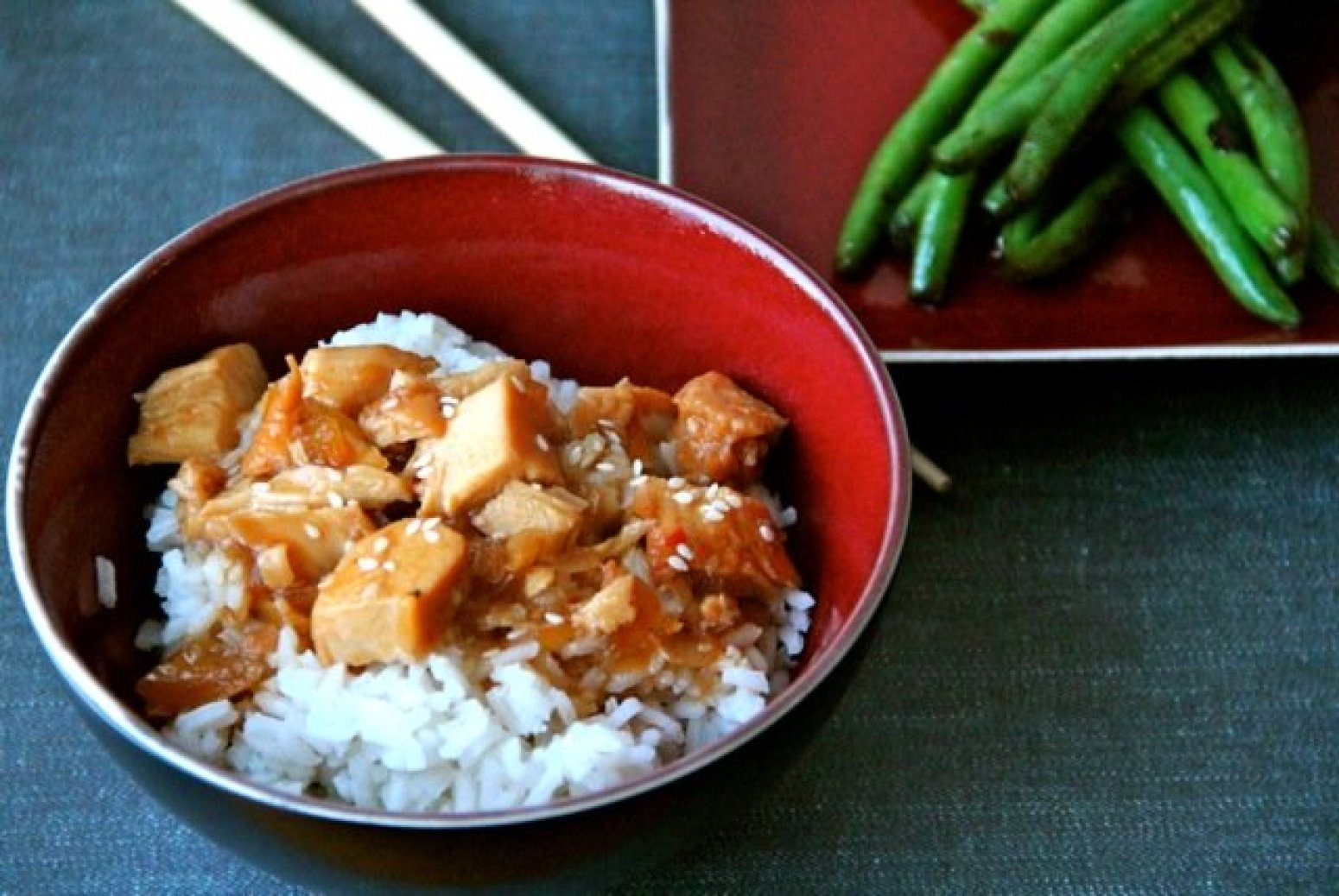 Slowcooked honey sesame chicken recipe just a pinch recipes for Alaska fish and chicken menu
