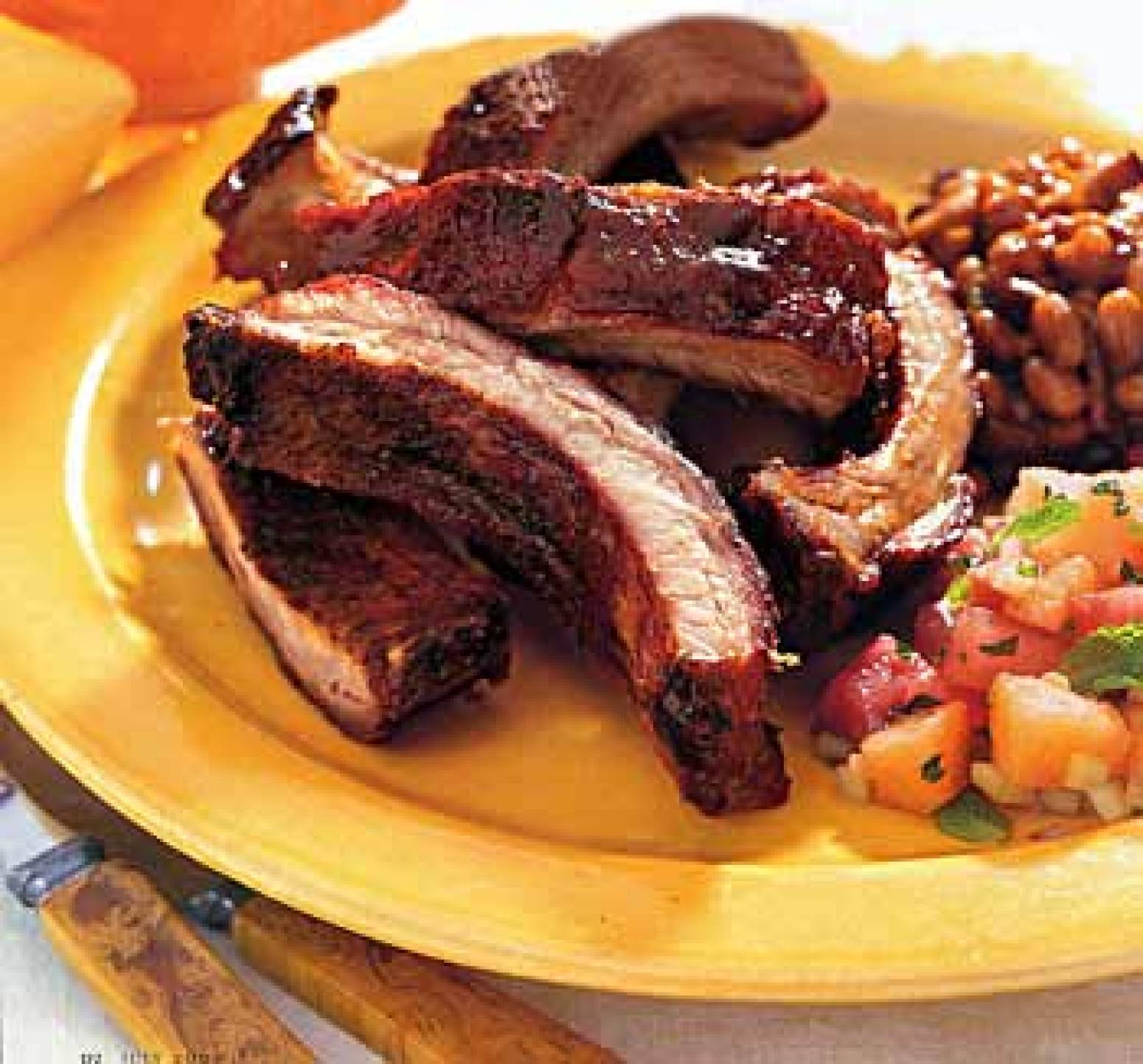 Sweet-and-Smoky Baby Back Ribs with Bourbon Barbecue Sauce Recipe ...