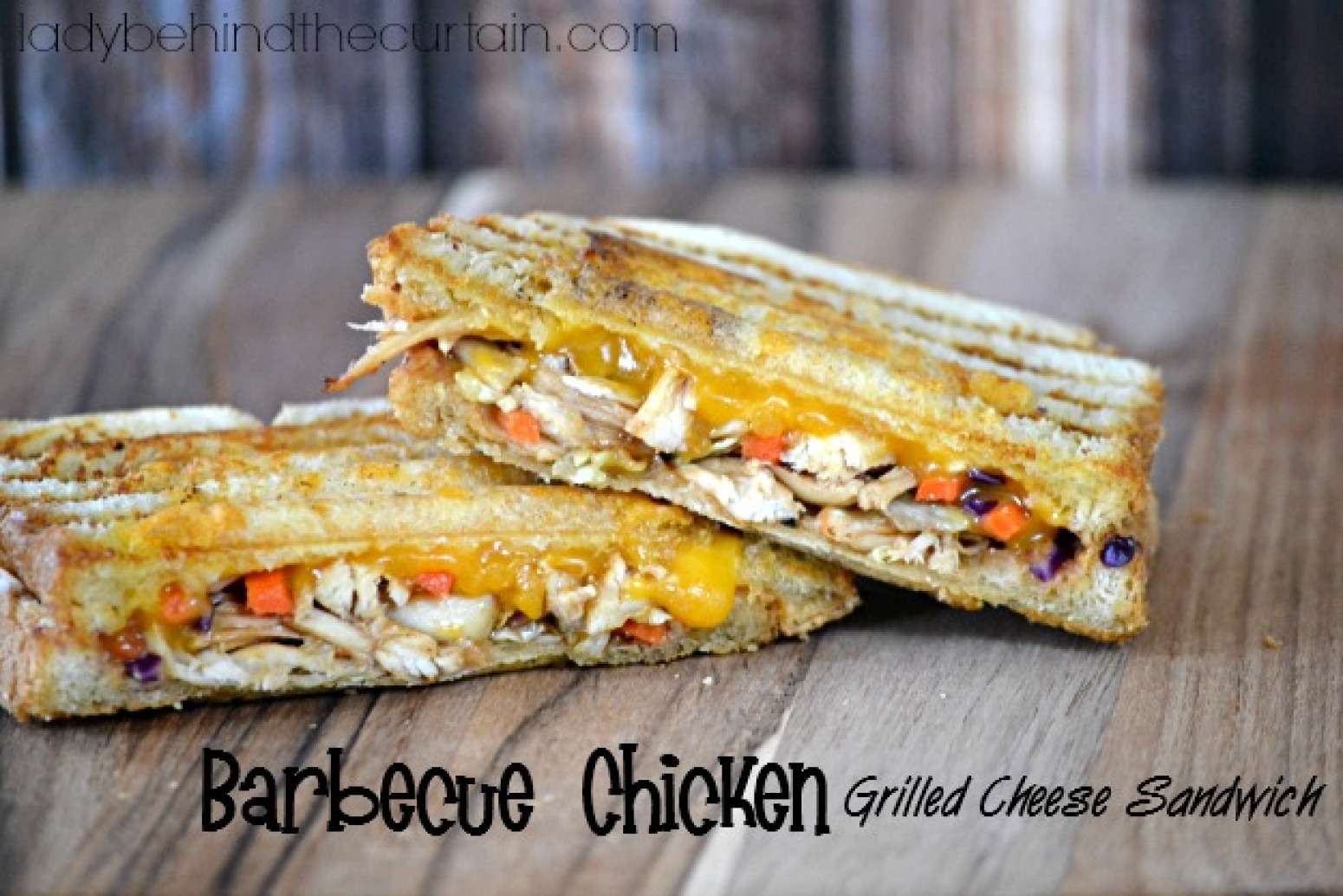 Barbecue Chicken Grilled Cheese Sandwich Recipe | Just A Pinch Recipes