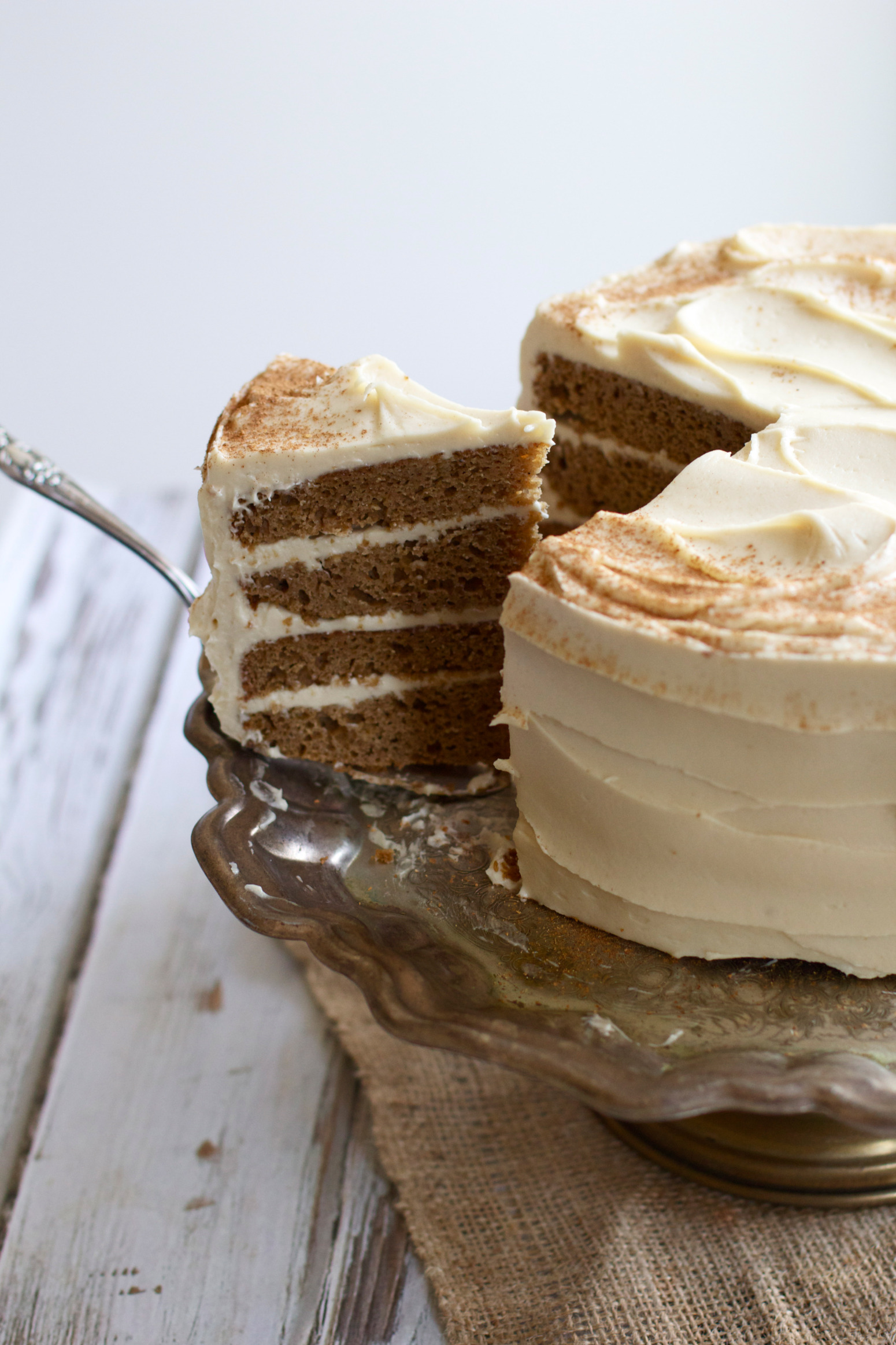 Cake With Icing Sugar Recipe : Buttermilk Spice Layer Cake with Brown Sugar Cream Cheese ...