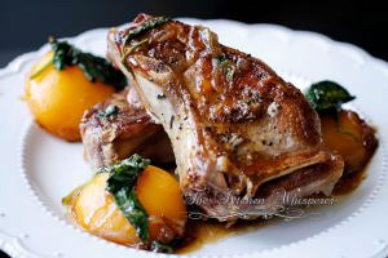 Circle B Ranch Pork Center Cut Chops with Peach Basil Bourbon Glaze ...