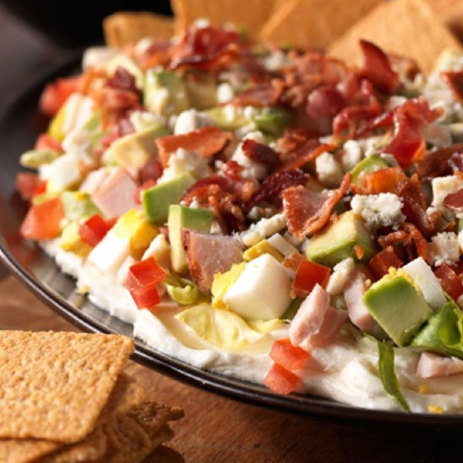 Cobb Salad Dip Recipe 8 | Just A Pinch Recipes