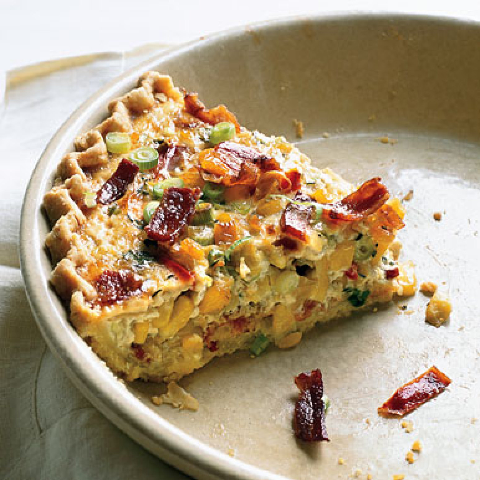 Corn and Bacon Pie Recipe | Epicurious.com | Just A Pinch ...