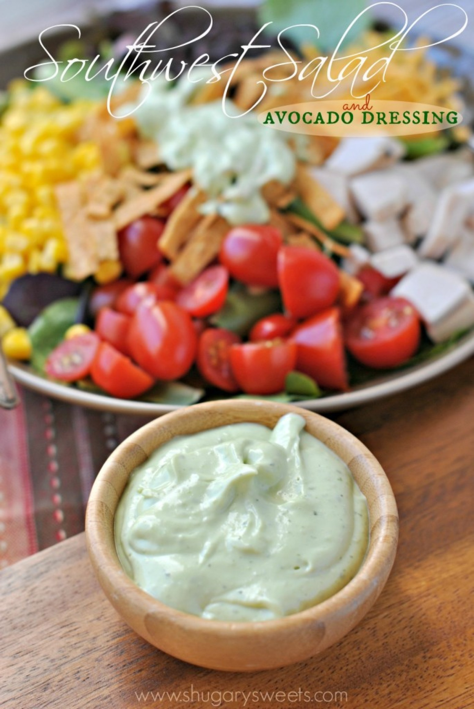 Southwest Chicken Salad with Avocado Dressing Recipe ...