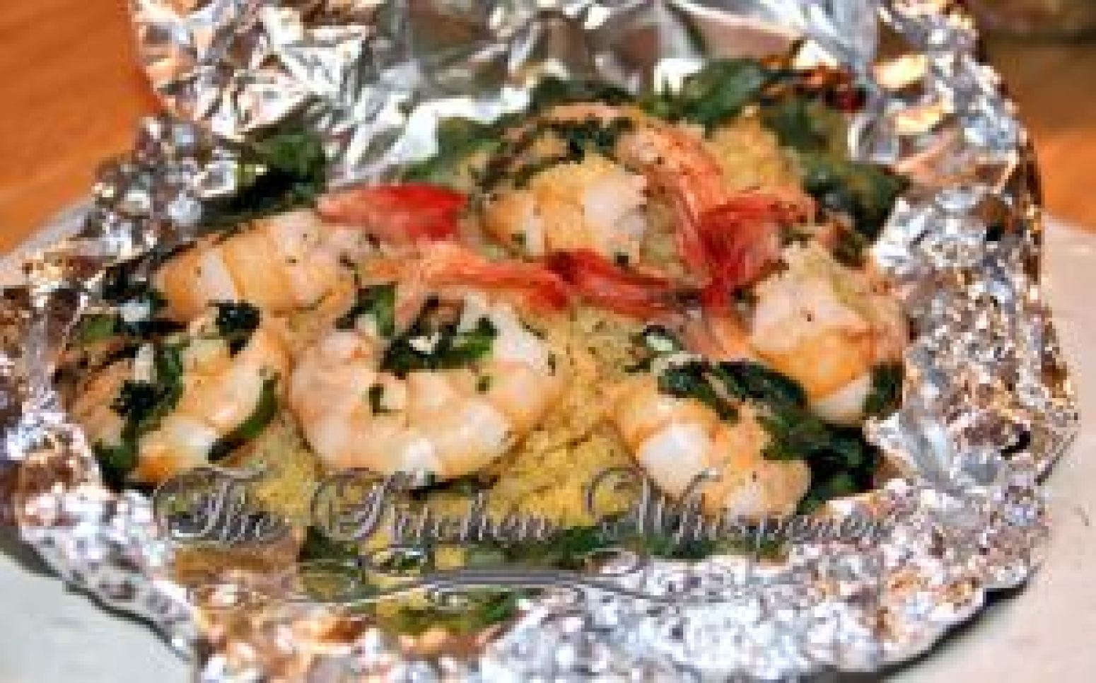 Tropical Shrimp Stelline Foil Packet Recipe | Just A Pinch Recipes