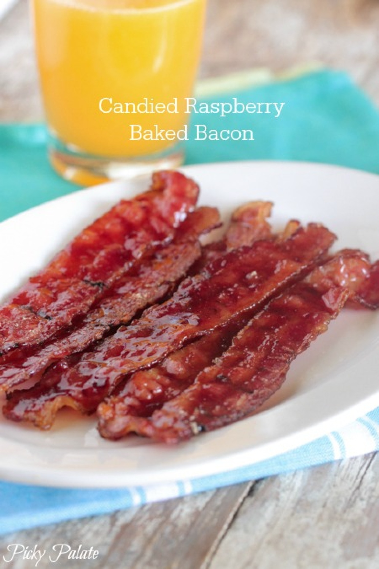 candied raspberry baked bacon recipe just a pinch recipes