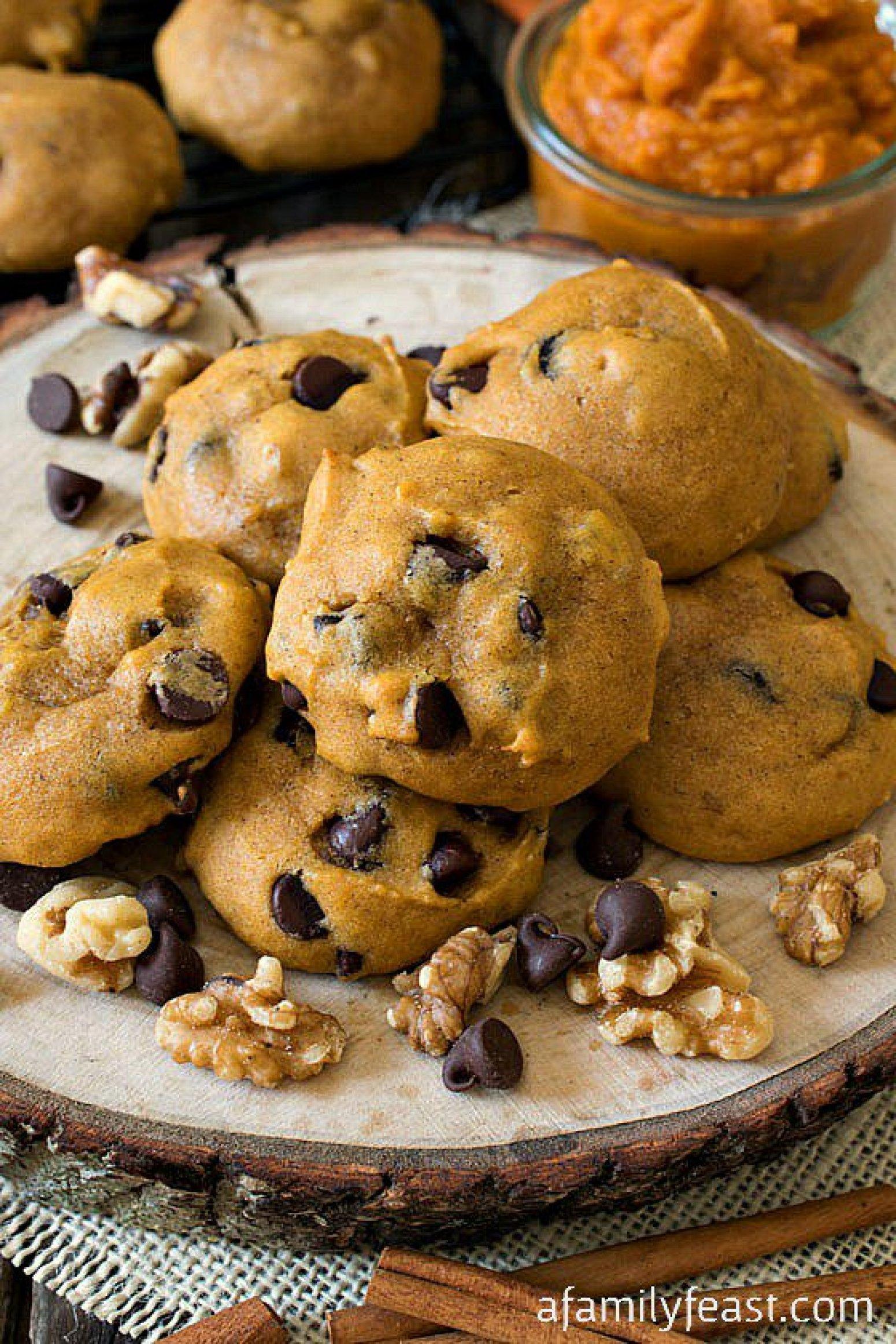 Soft Pumpkin Chocolate Chip Cookies Recipe 3 | Just A Pinch Recipes