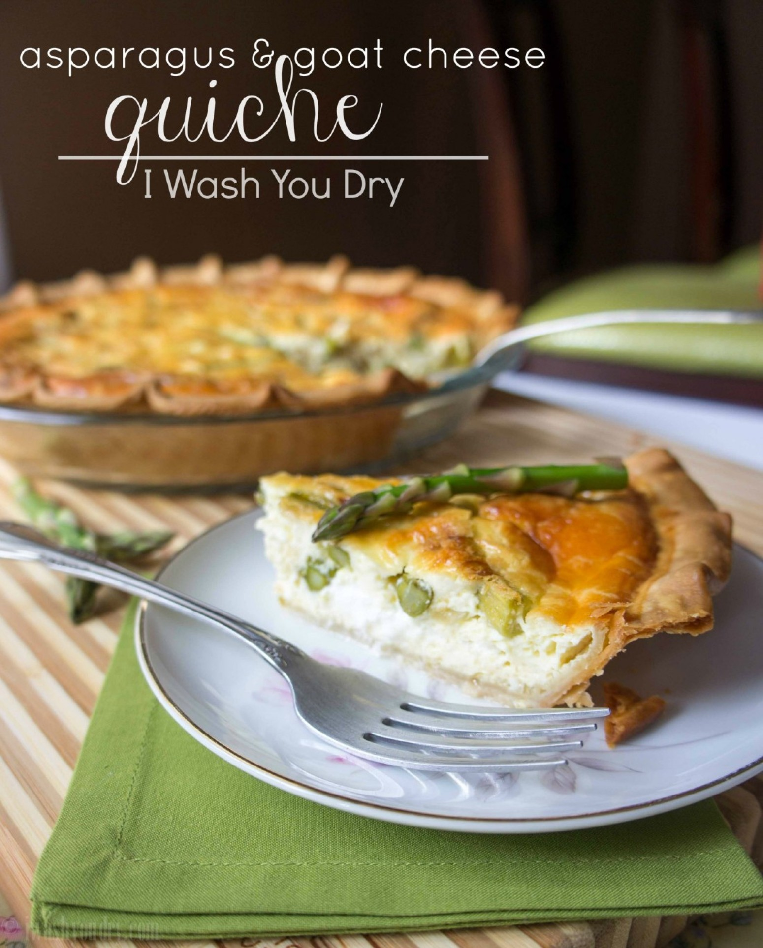 Asparagus and Goat Cheese Quiche Recipe | Just A Pinch Recipes
