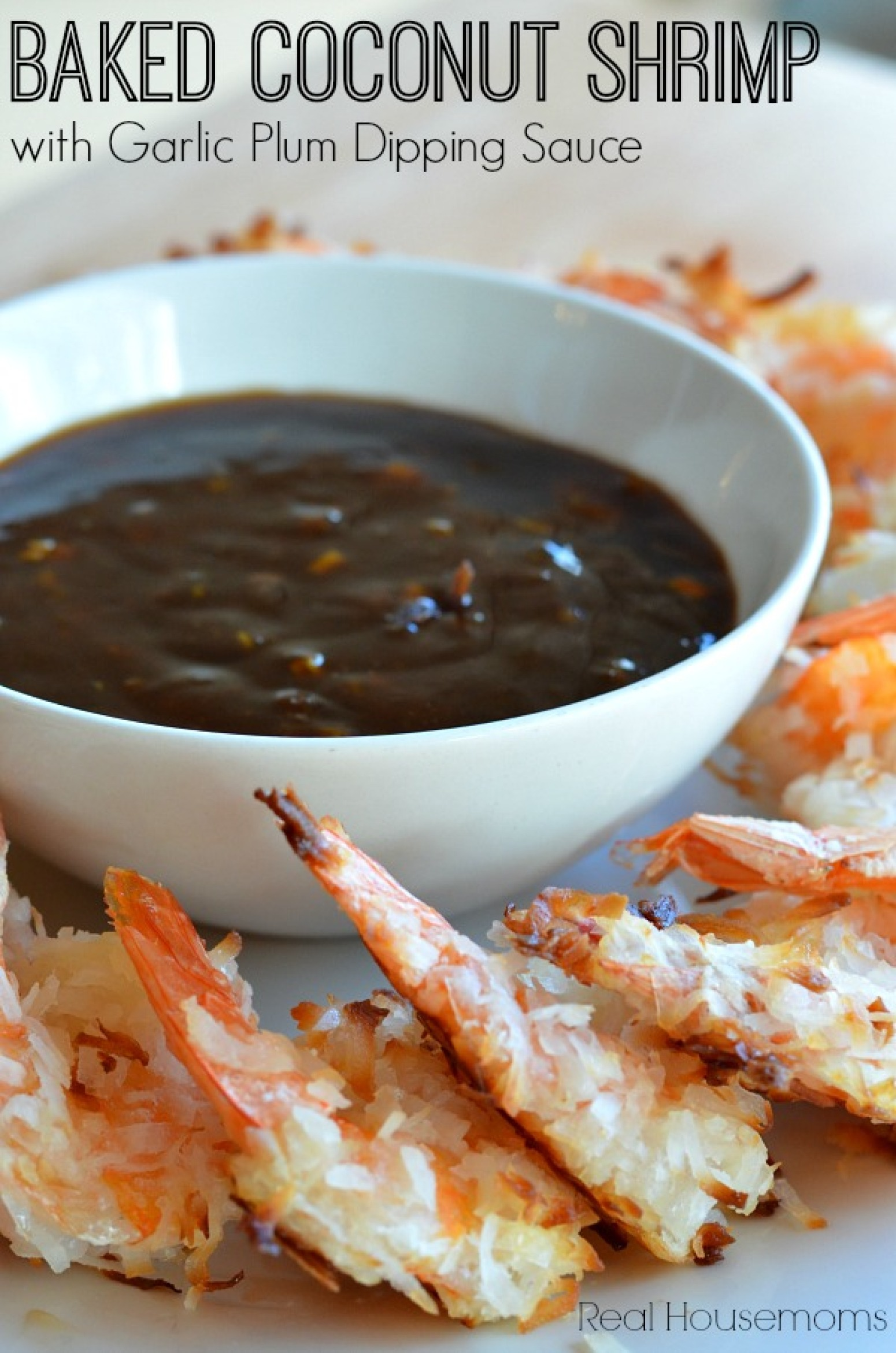 Baked Coconut Shrimp with Garlic Plum Dipping Sauce Recipe ...
