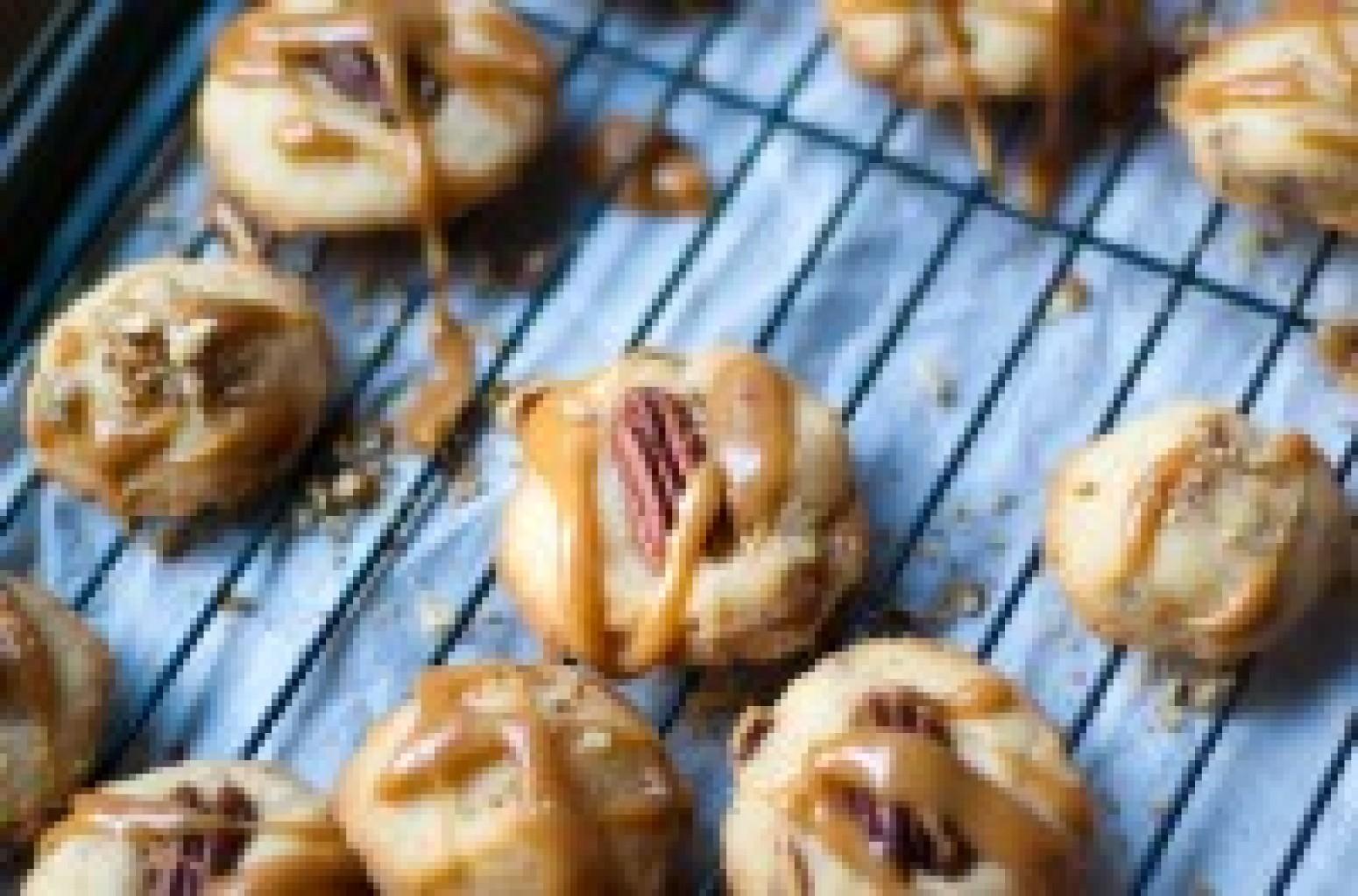 Caramel Pecan Shortbread Cookies Recipe | Just A Pinch Recipes