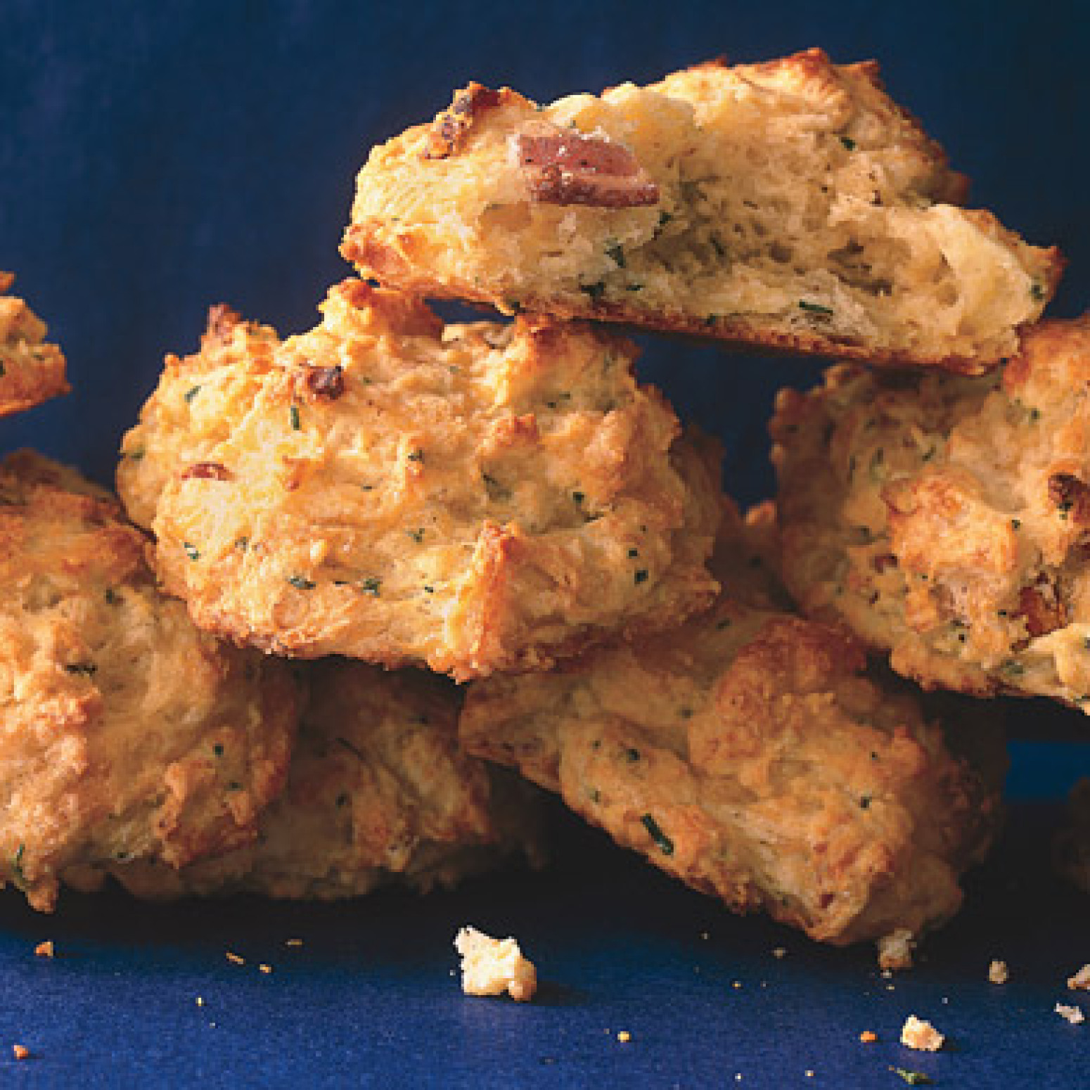 Cheddar, Bacon, and Fresh Chive Biscuits Recipe | Epicurious.com ...