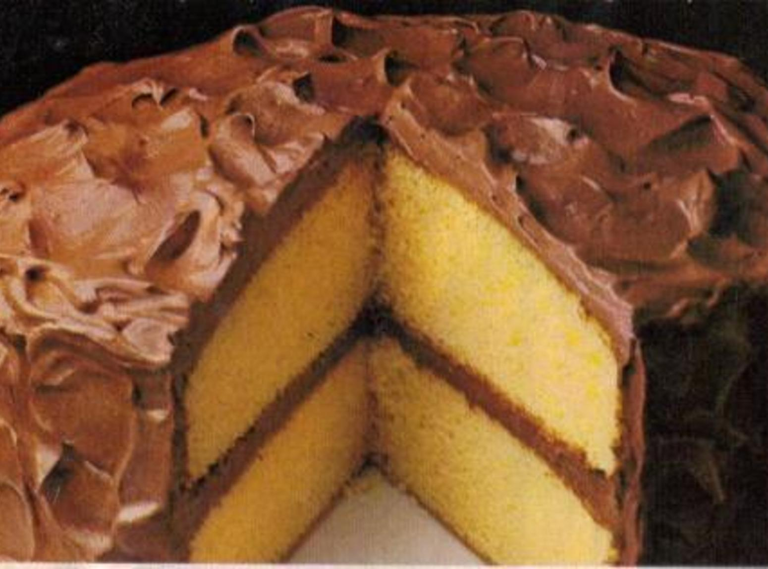 Yellow  Fluffy Layer Cake By Freda Recipe