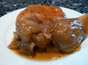 LPC Apples and Onion Pork Chops Recipe