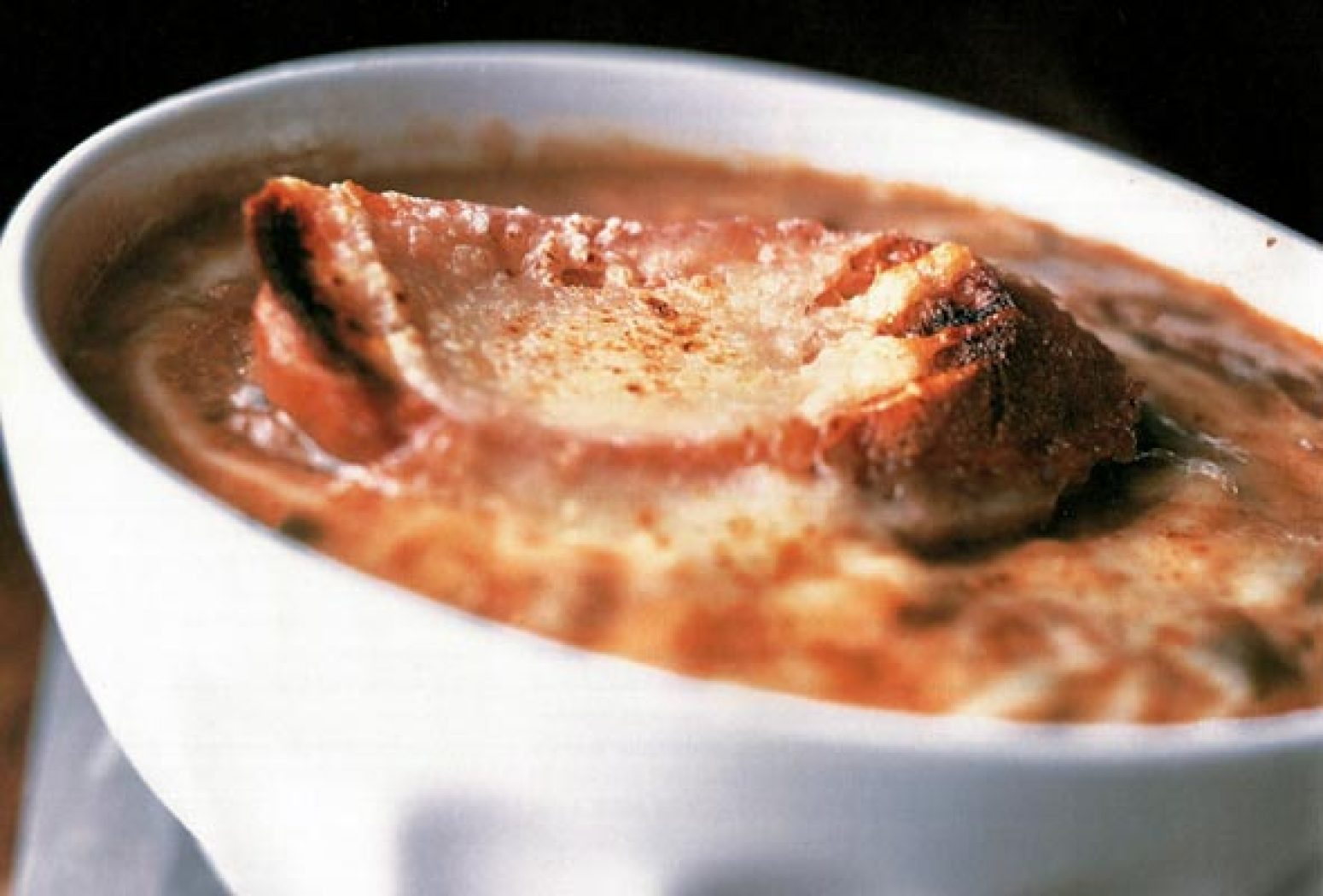Gooey Cheesy Baked French Onion Soup Recipe | Just A Pinch ...
