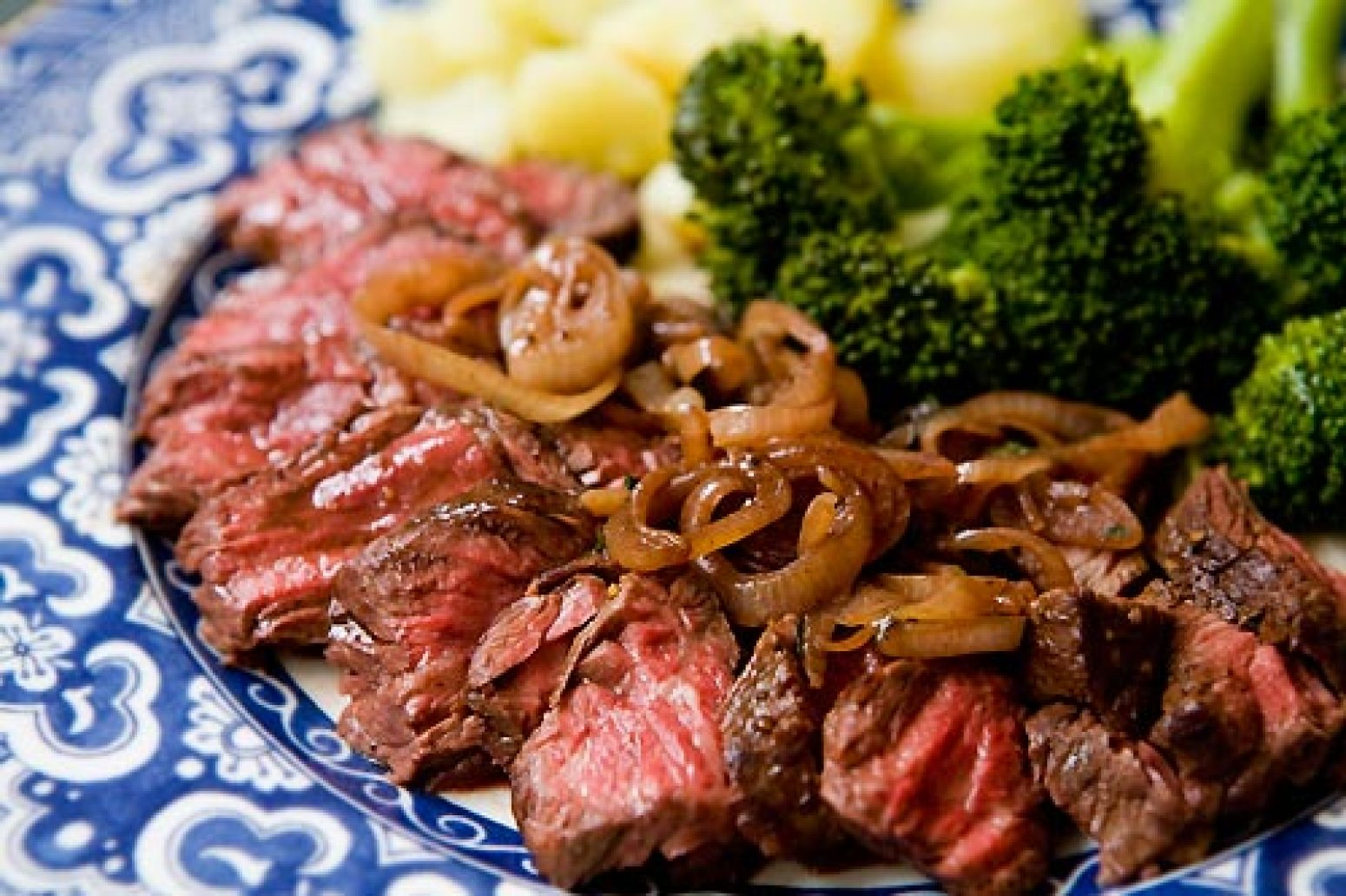 Hanger Steak with Shallots Recipe | Just A Pinch Recipes