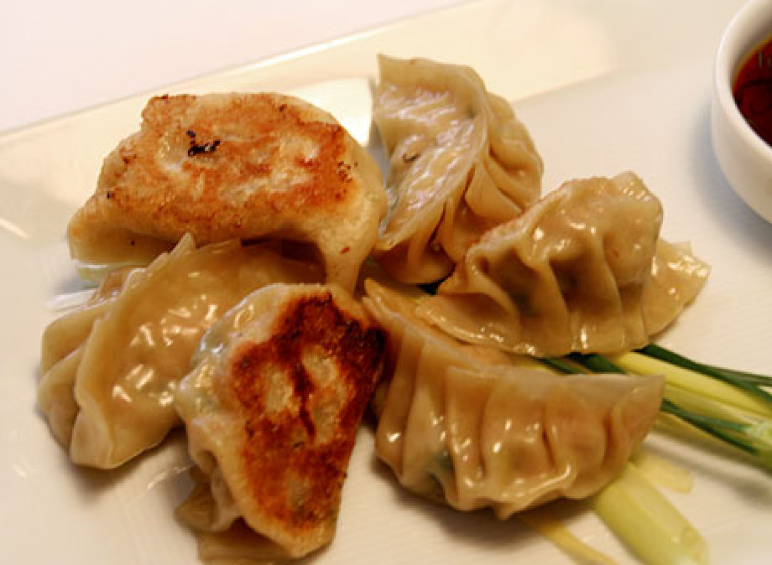 Pork and Chive Dumplings with Dried Shrimp Recipe | Epicurious.com ...