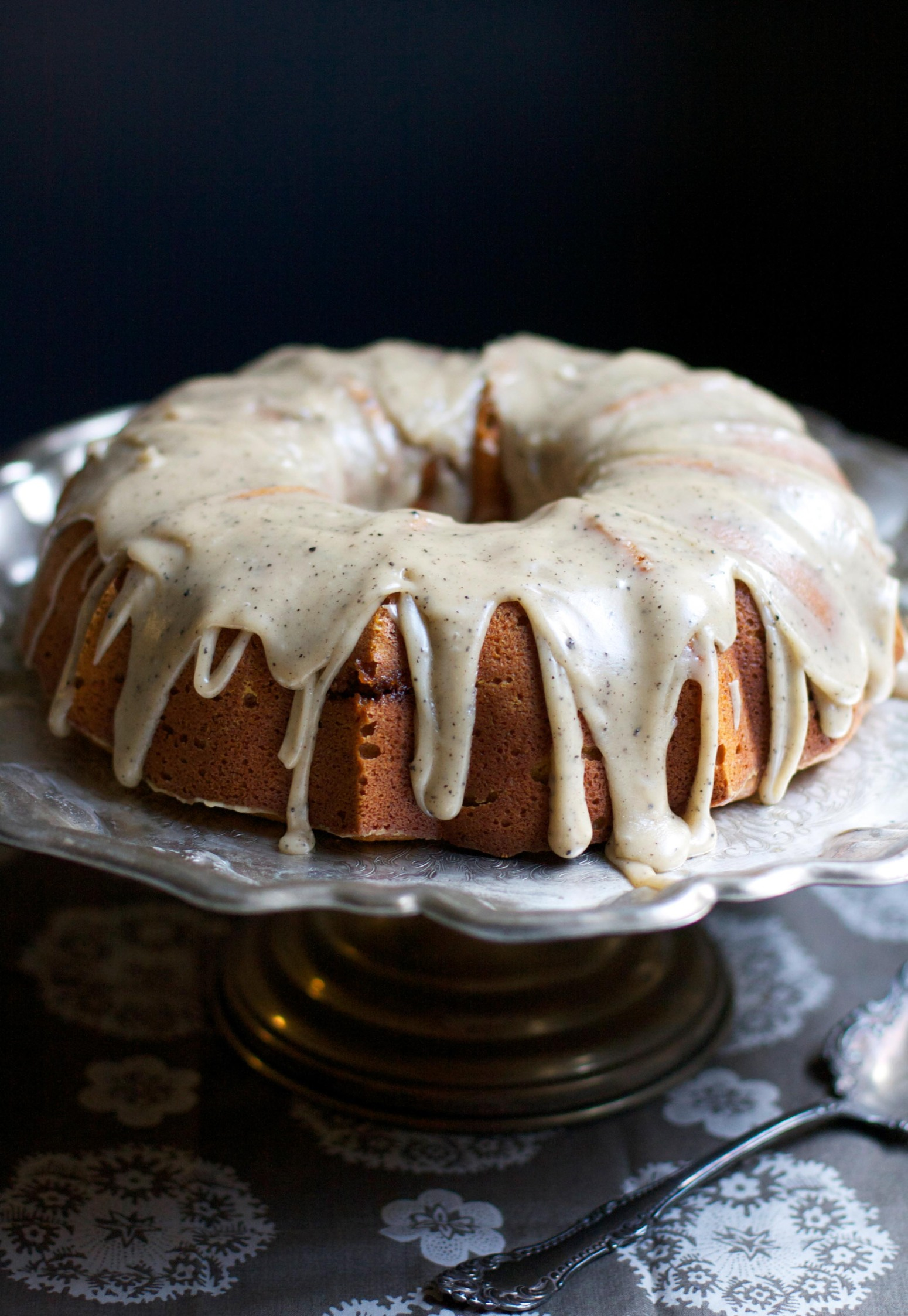 Pumpkin Buttermilk Bundt Cake with Brown Butter Icing Recipe | Just A ...