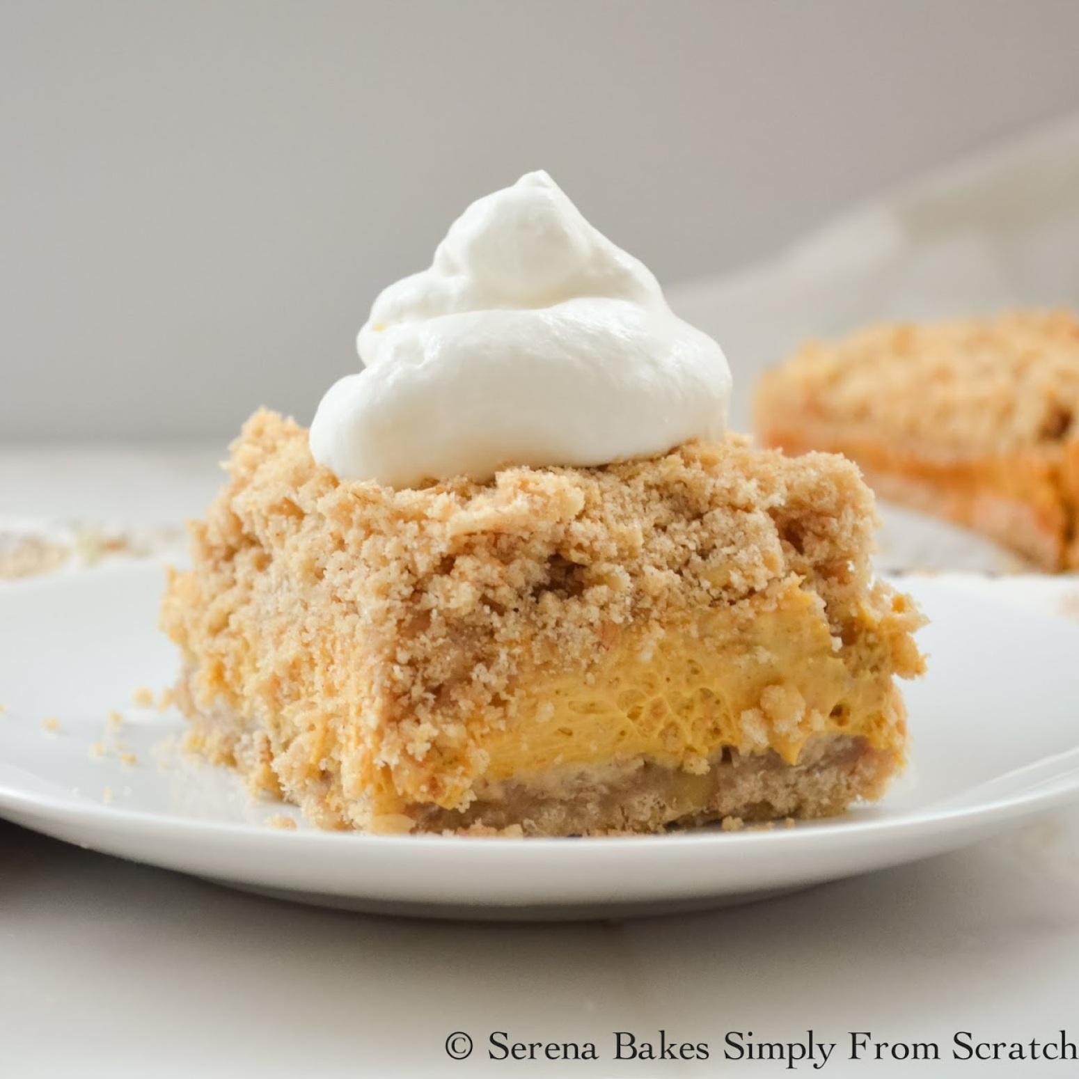 Pumpkin Cheesecake Crumb Bars Recipe 2 | Just A Pinch Recipes