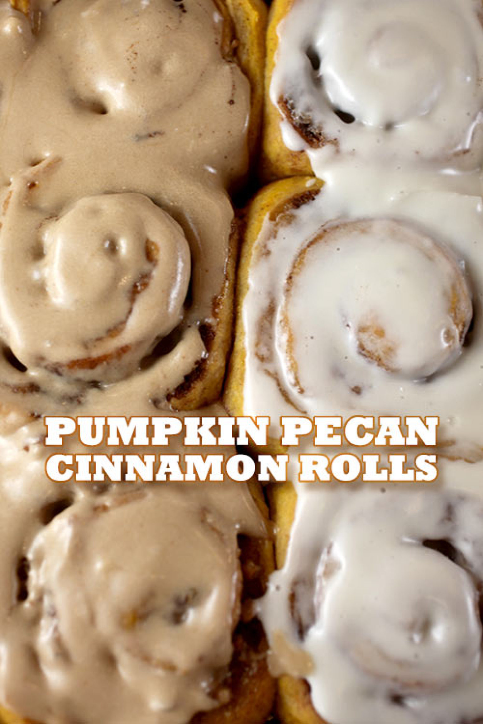 Pumpkin Cinnamon Rolls With Maple Icing Recipe — Dishmaps