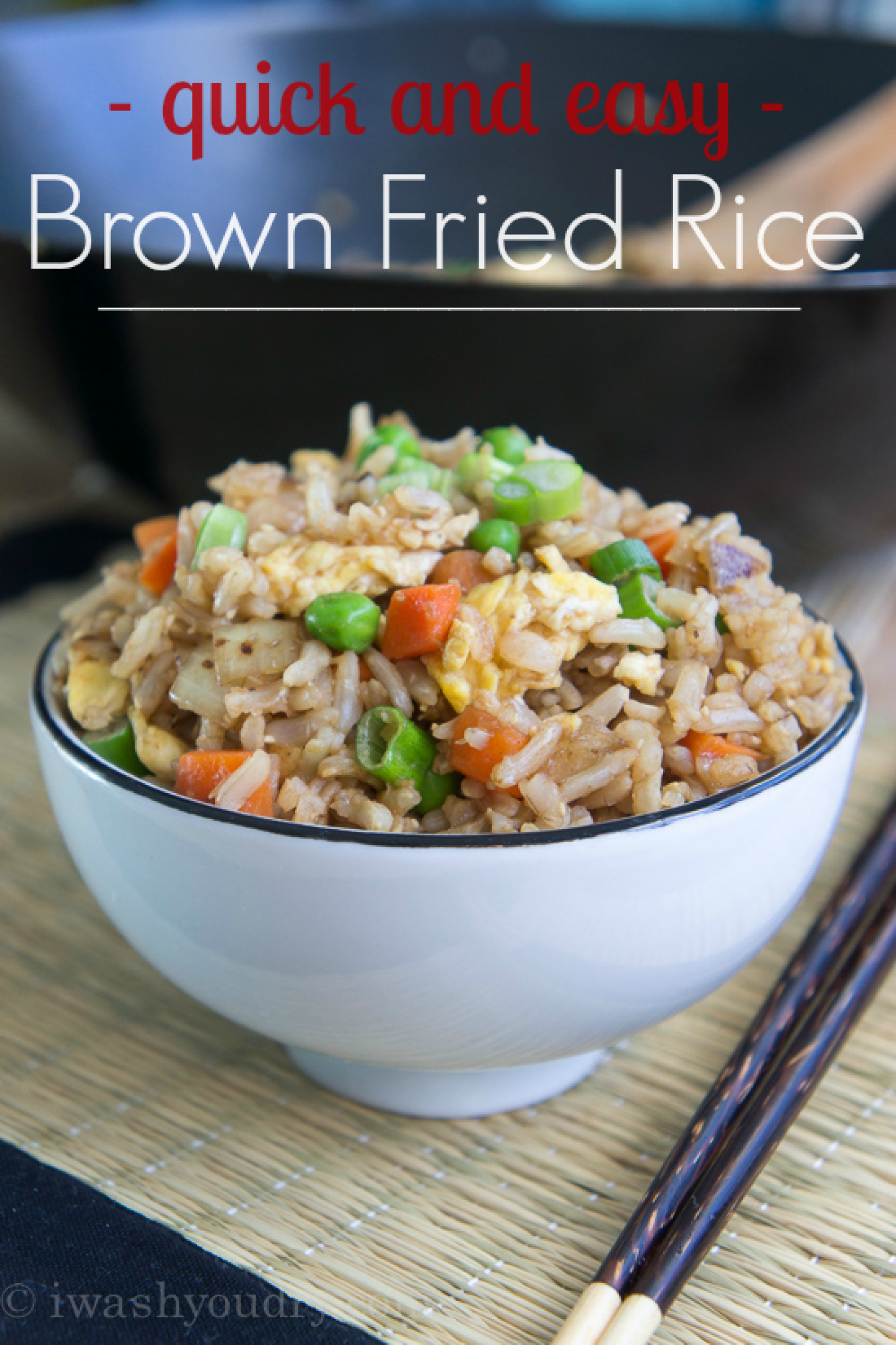 Quick and Easy Brown Fried Rice Recipe | Just A Pinch Recipes