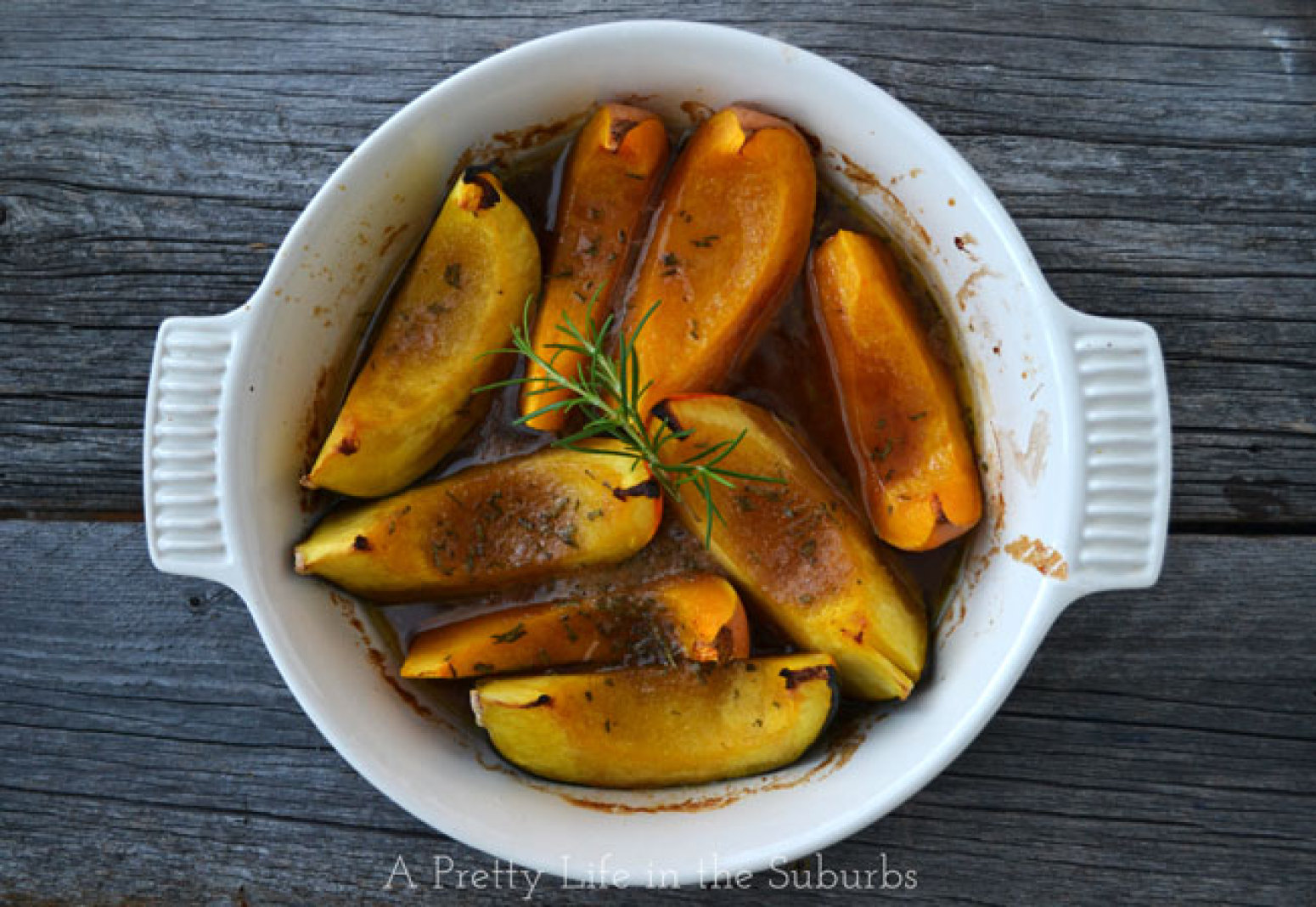 Roasted Brown Sugar & Rosemary Squash Wedges Recipe | Just A Pinch ...
