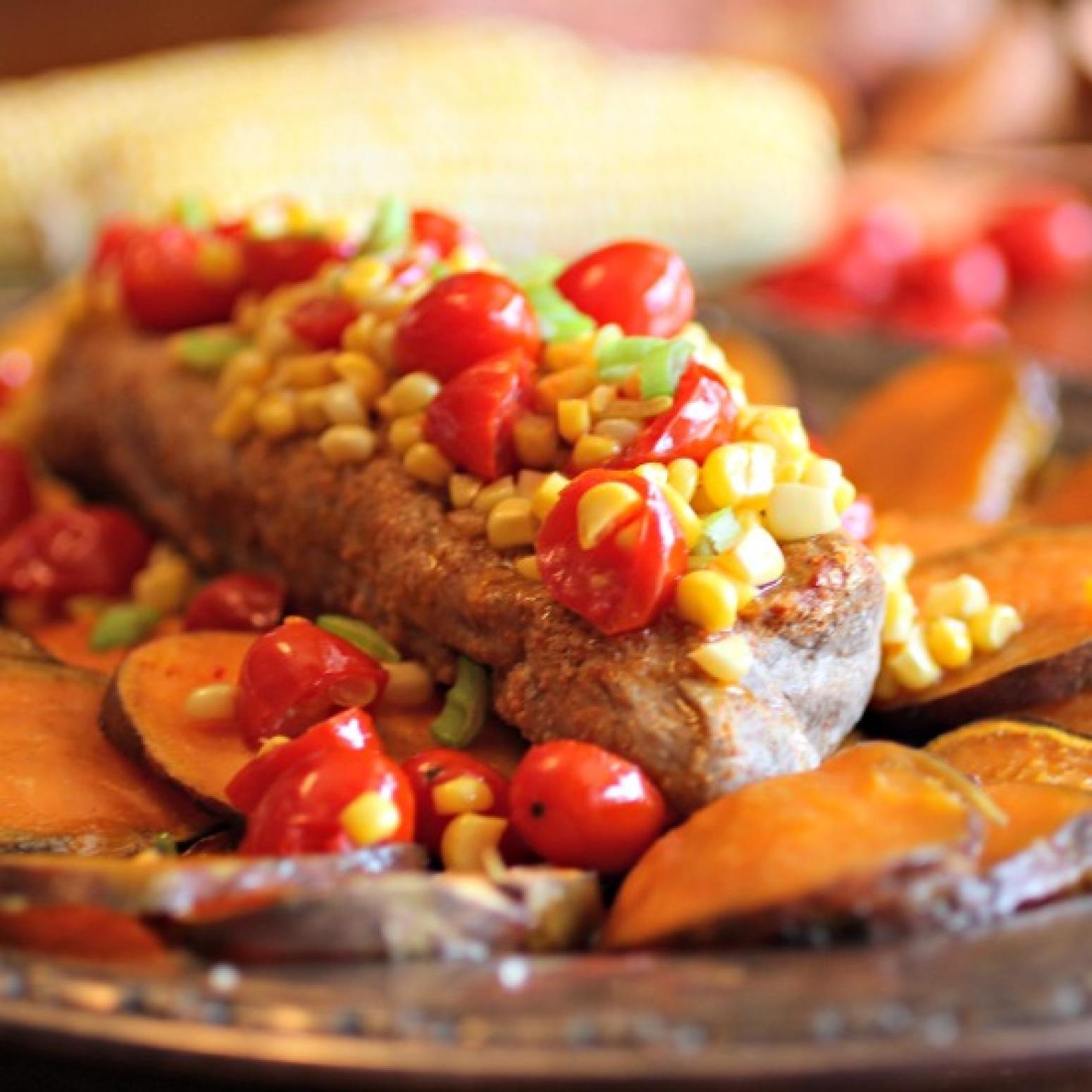 Roasted Pork Tenderloin over Sweet Potatoes #SundaySupper Recipe ...