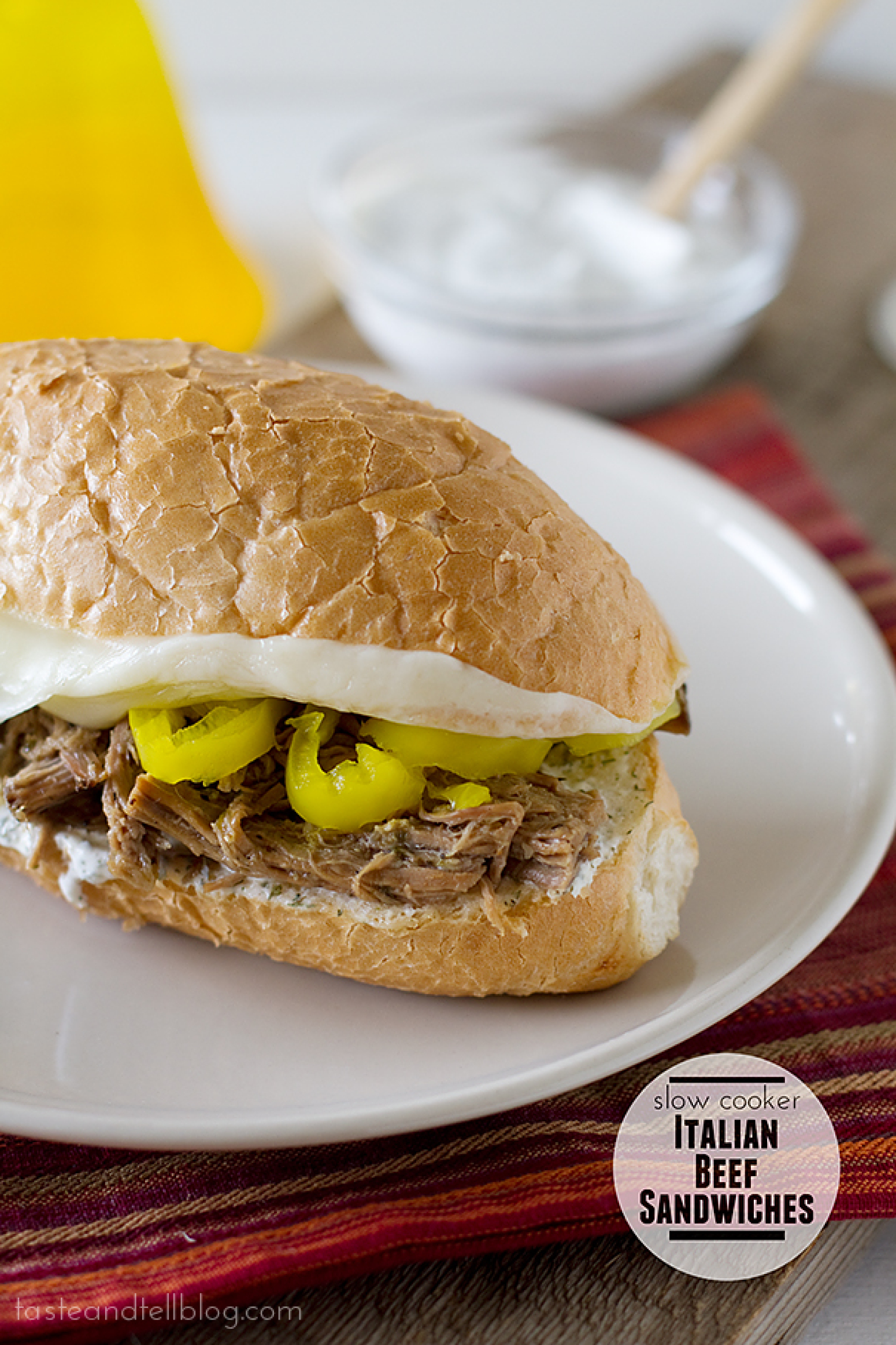 Slow Cooker Italian Beef Sandwiches Recipe 2 | Just A Pinch Recipes