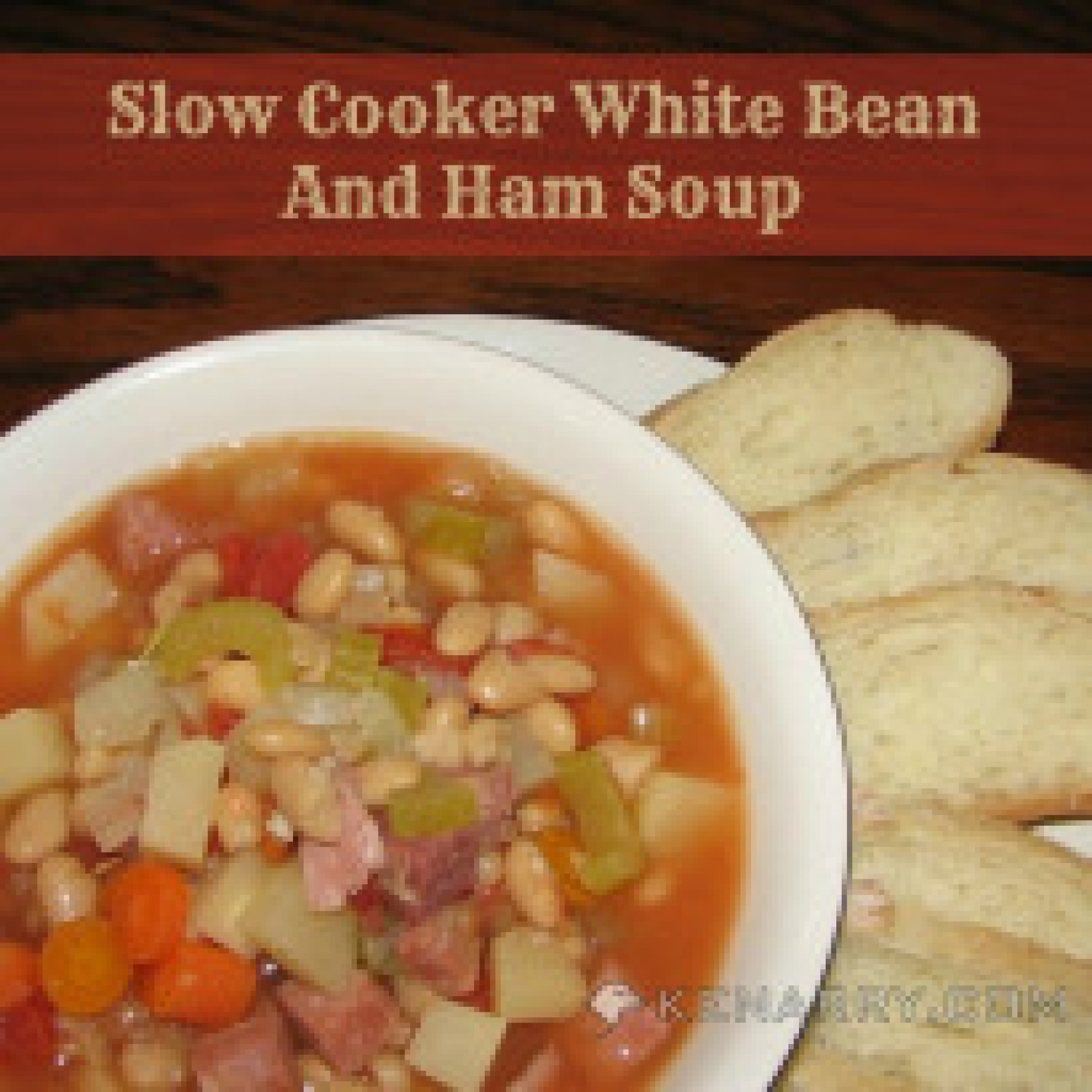 Slow Cooker White Bean and Ham Soup aka Blizzard Soup ...