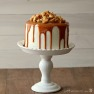 Vanilla Malt Cake with Salted Caramel and Cashews Recipe