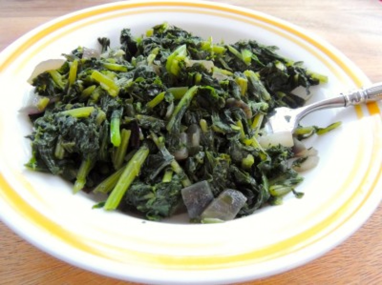 Fried Turnip Greens Recipe | Just A Pinch Recipes Green Turnip Recipe