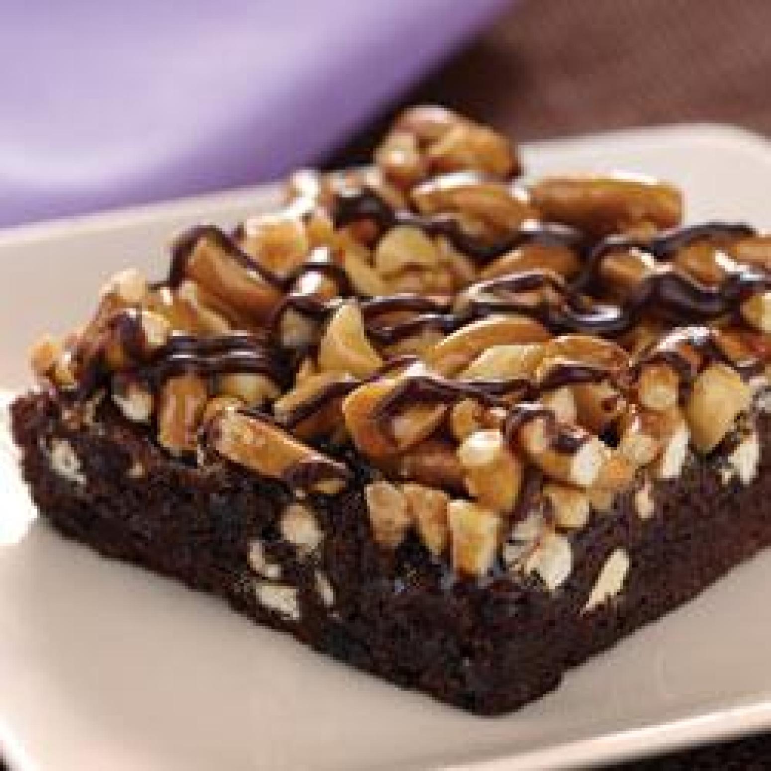 Fudgy Caramel Pretzel Brownies Recipe — Dishmaps