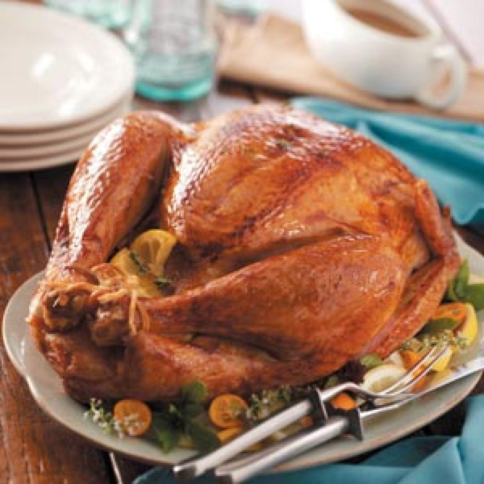 Lemon-Herb Roasted Turkey Recipe   Just A Pinch Recipes
