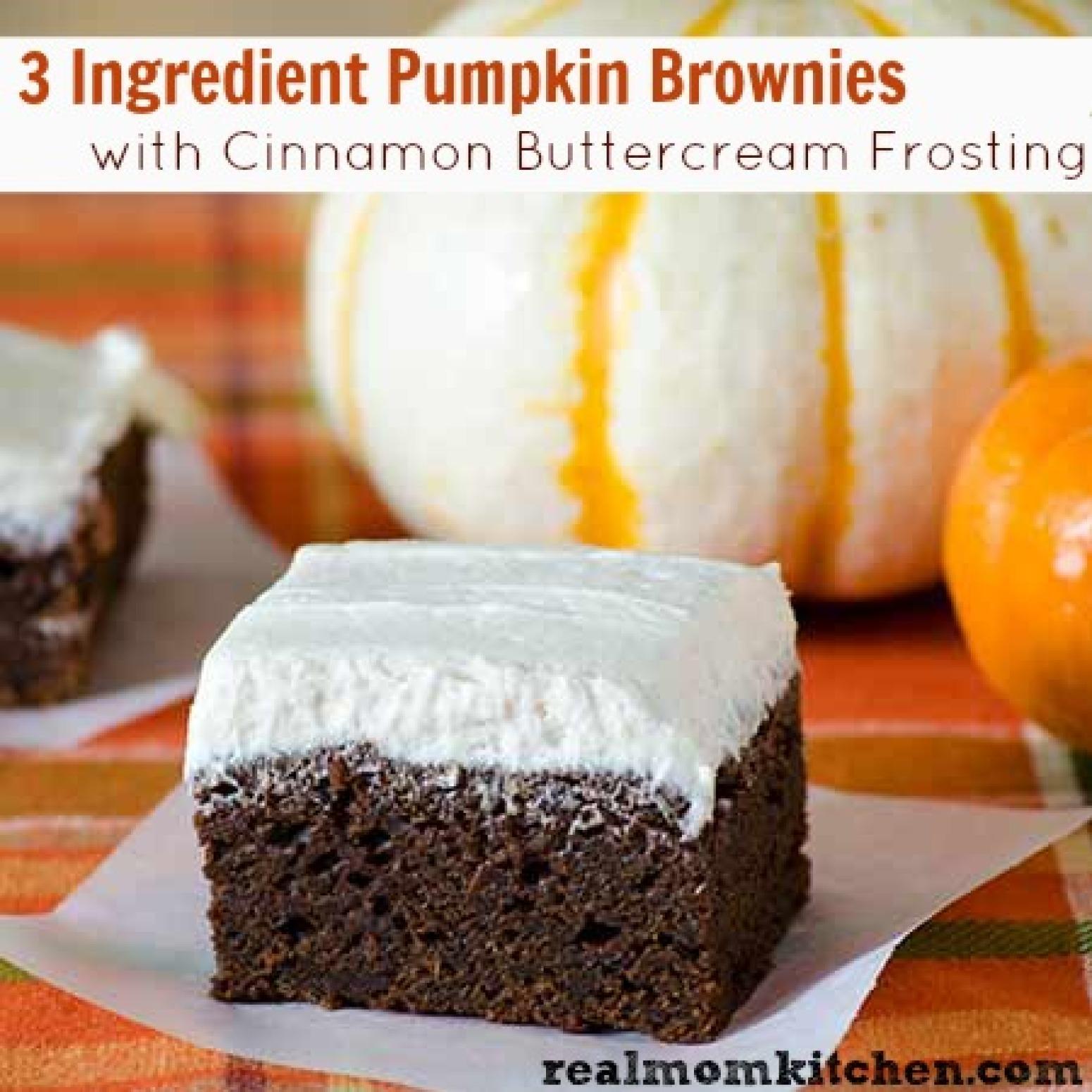 ... Ingredient Pumpkin Brownies with Cinnamon Buttercream Frosting Recipe