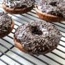 Baked Banana Bread Donuts with Dark Chocolate Glaze Recipe