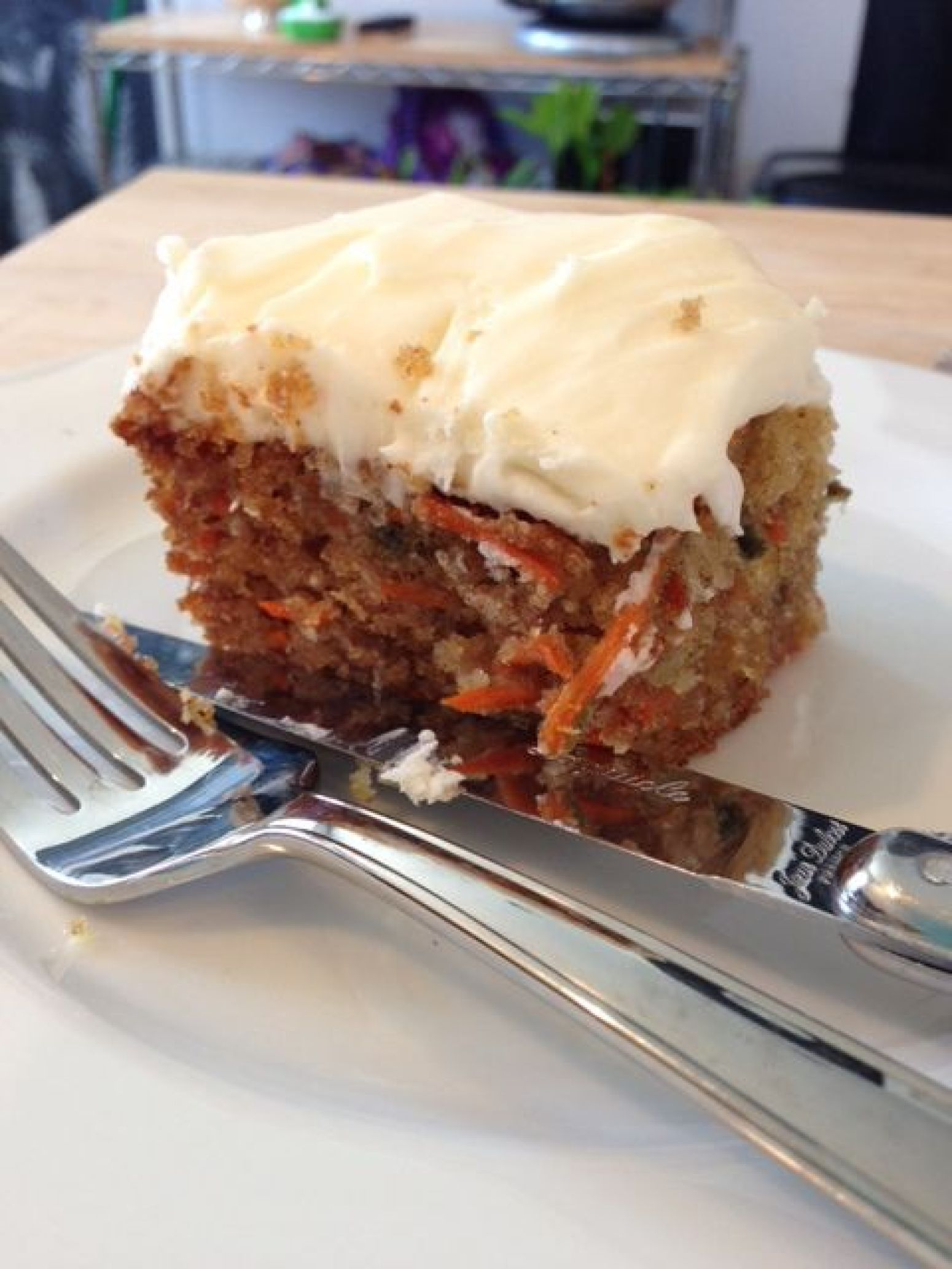 Carrot Cake with Orange Cream Cheese Frosting Recipe | Just A Pinch ...